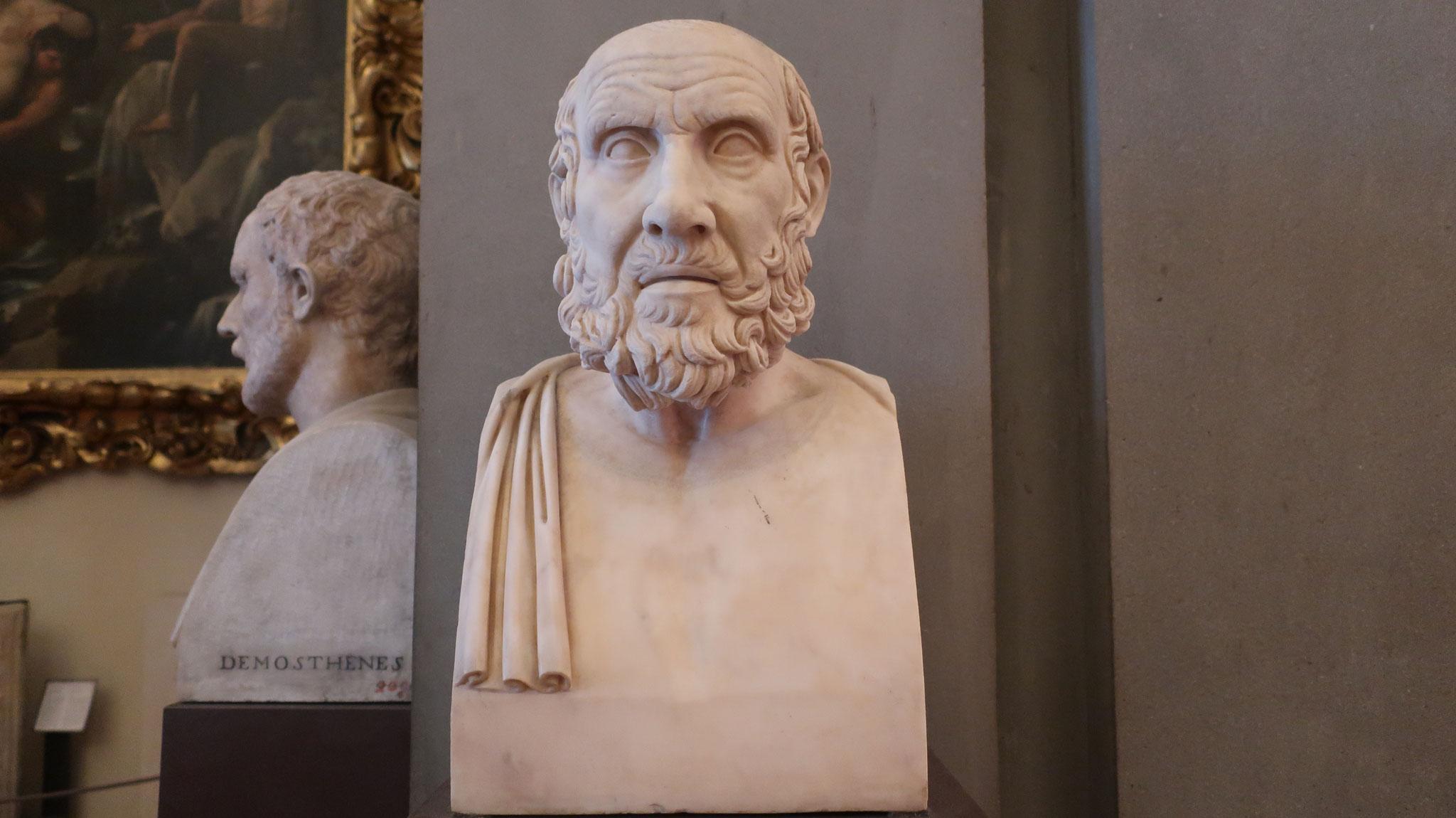ヒッポクラテス像。紀元前5世紀。医学の父。