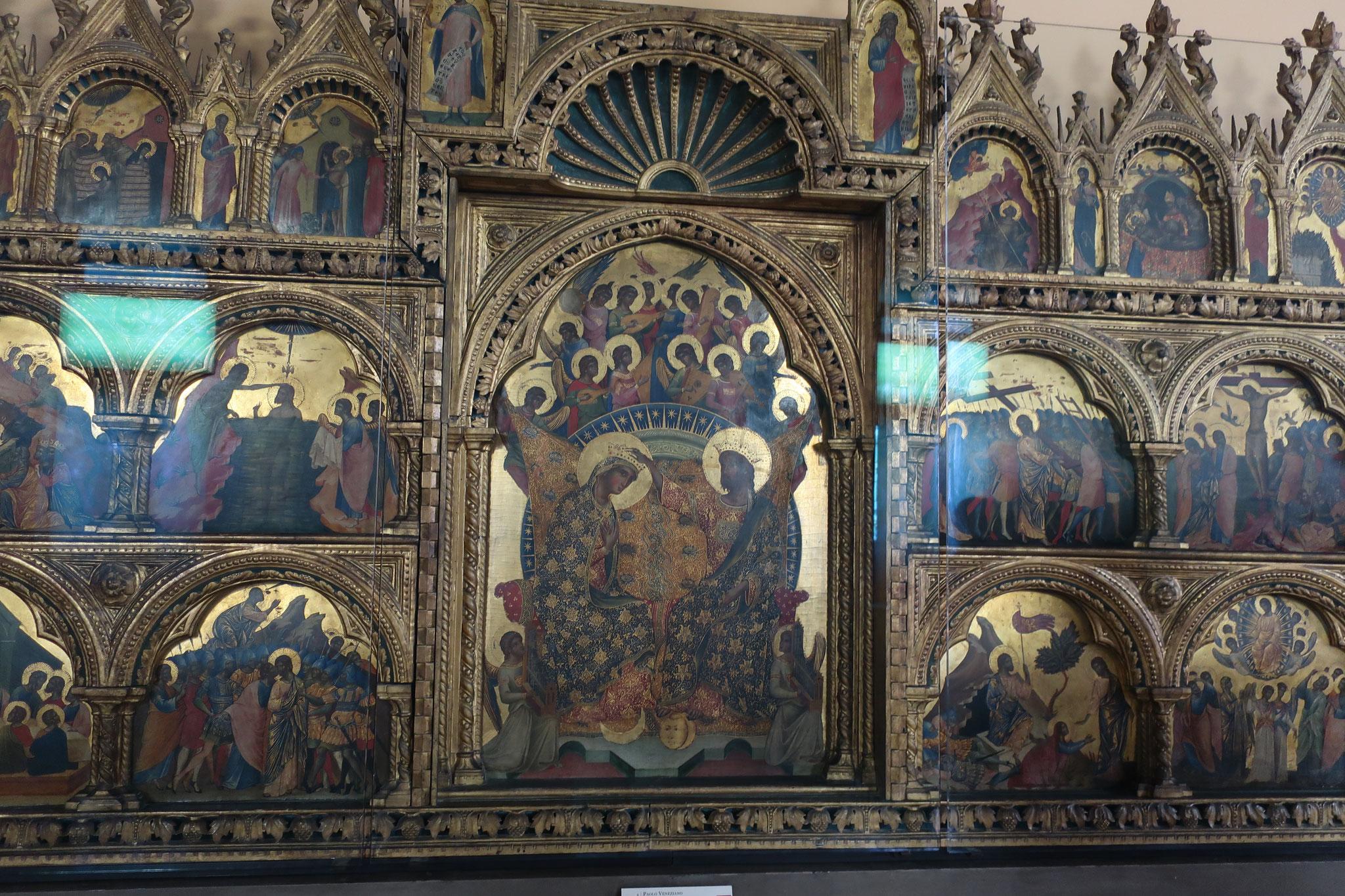 多翼祭壇画「聖母の戴冠」。パオロ・ヴェネツィアーノ 作