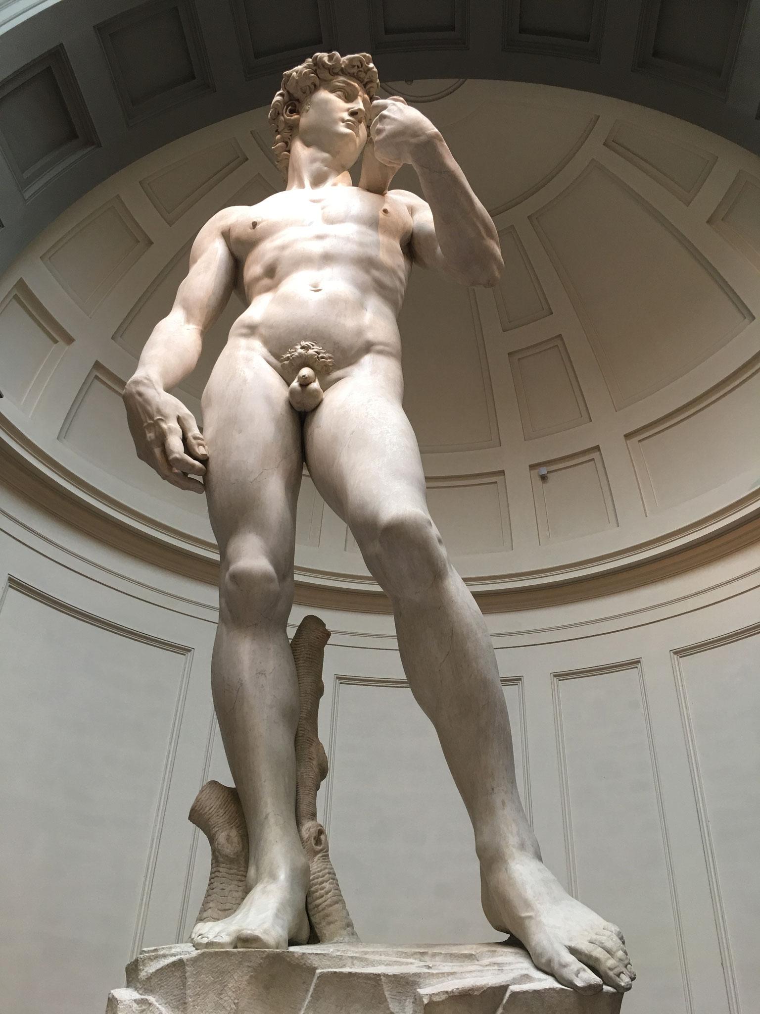 ダヴィデ像。ミケランジェロの傑作。