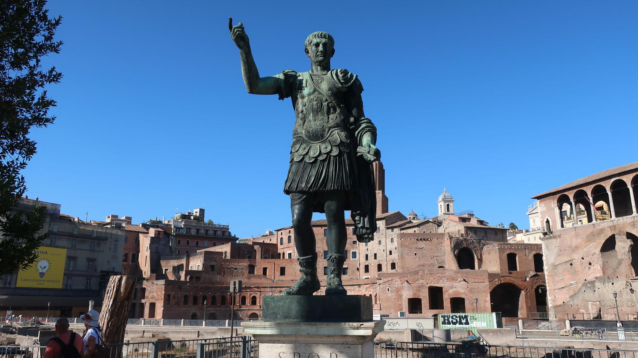 トラヤヌス帝。紀元1-2世紀、ローマ帝国史上最大の版図を現出しました。五賢帝の一人。