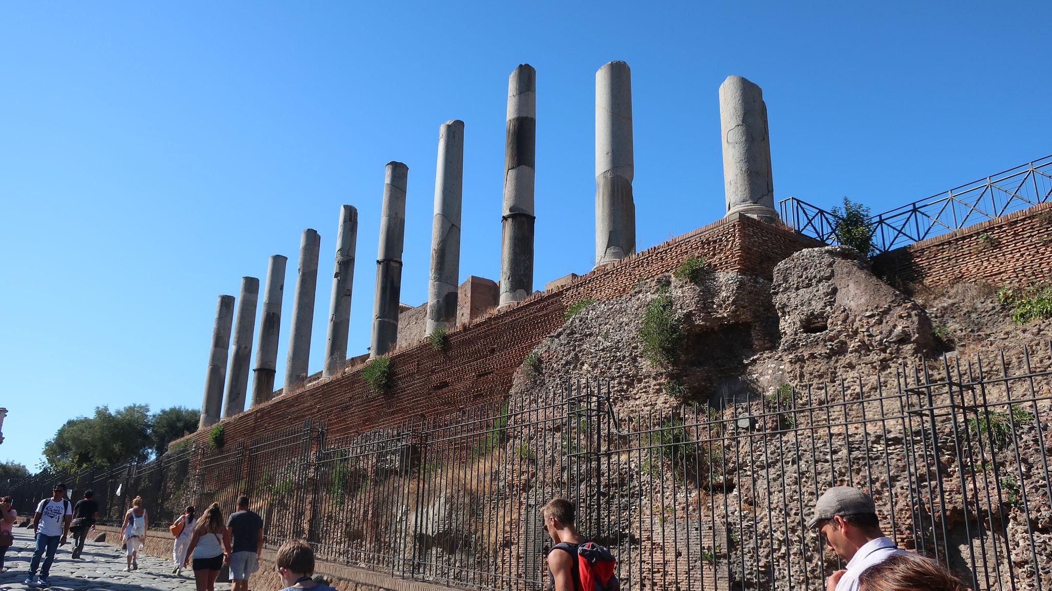 フォロ・ロマーノ(公共広場)。ローマの女神「ウェヌス(Venus)(ヴィーナス)」の神殿と「聖なる道」