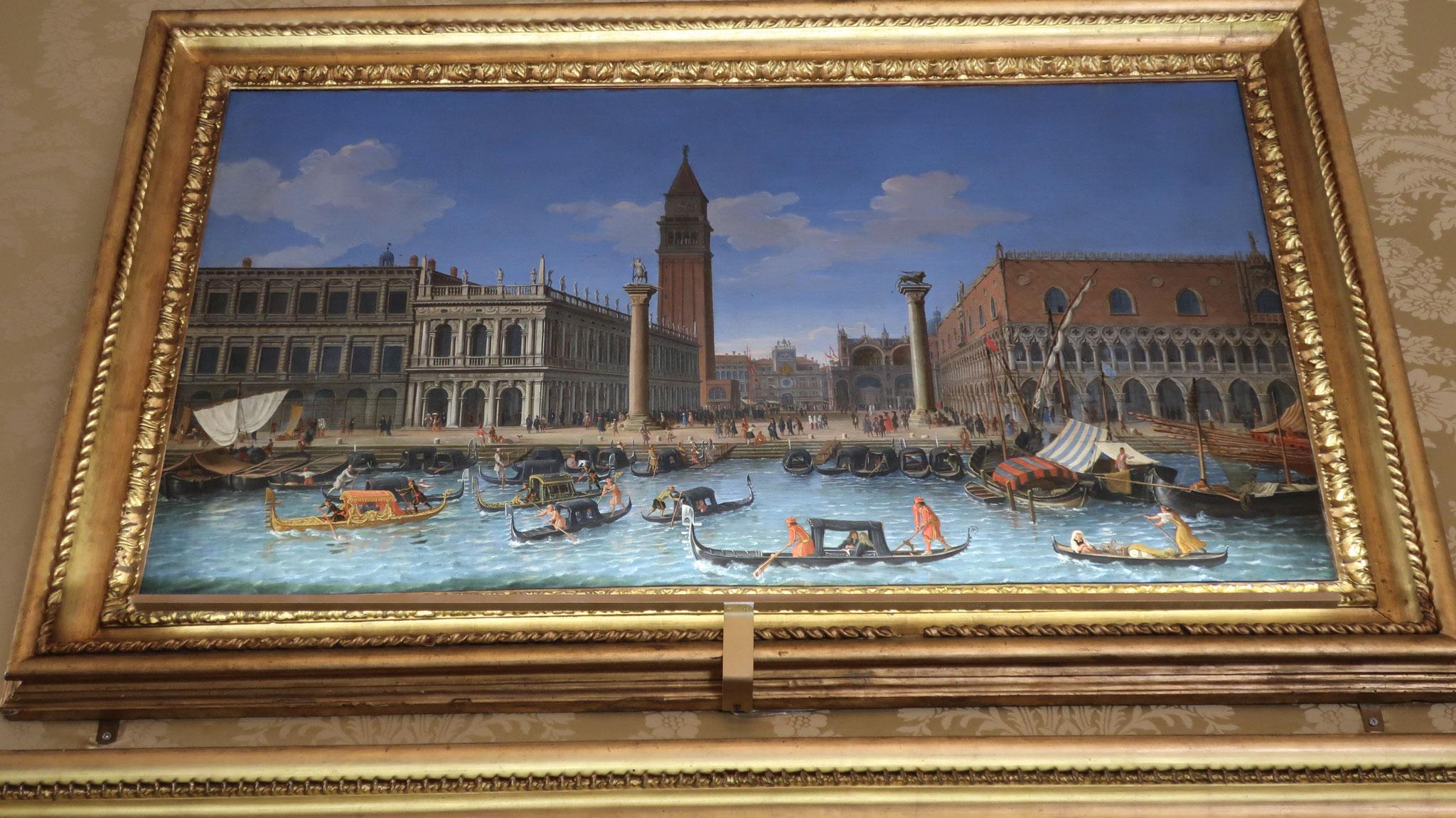 ヴァンヴィテッリの絵画コレクション。「ヴェネツィアの風景」