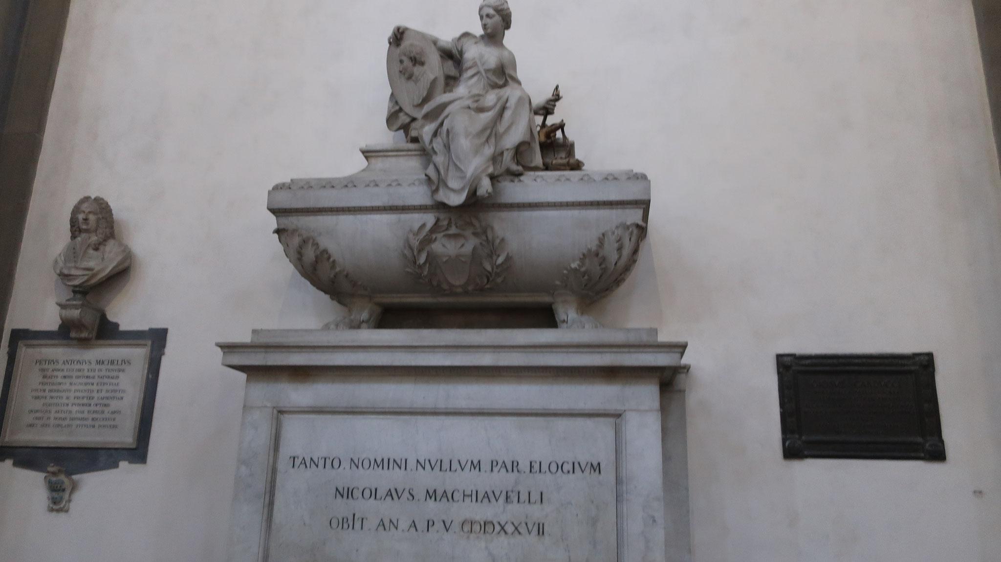 「君主論」の著者N.マキャベッリの墓