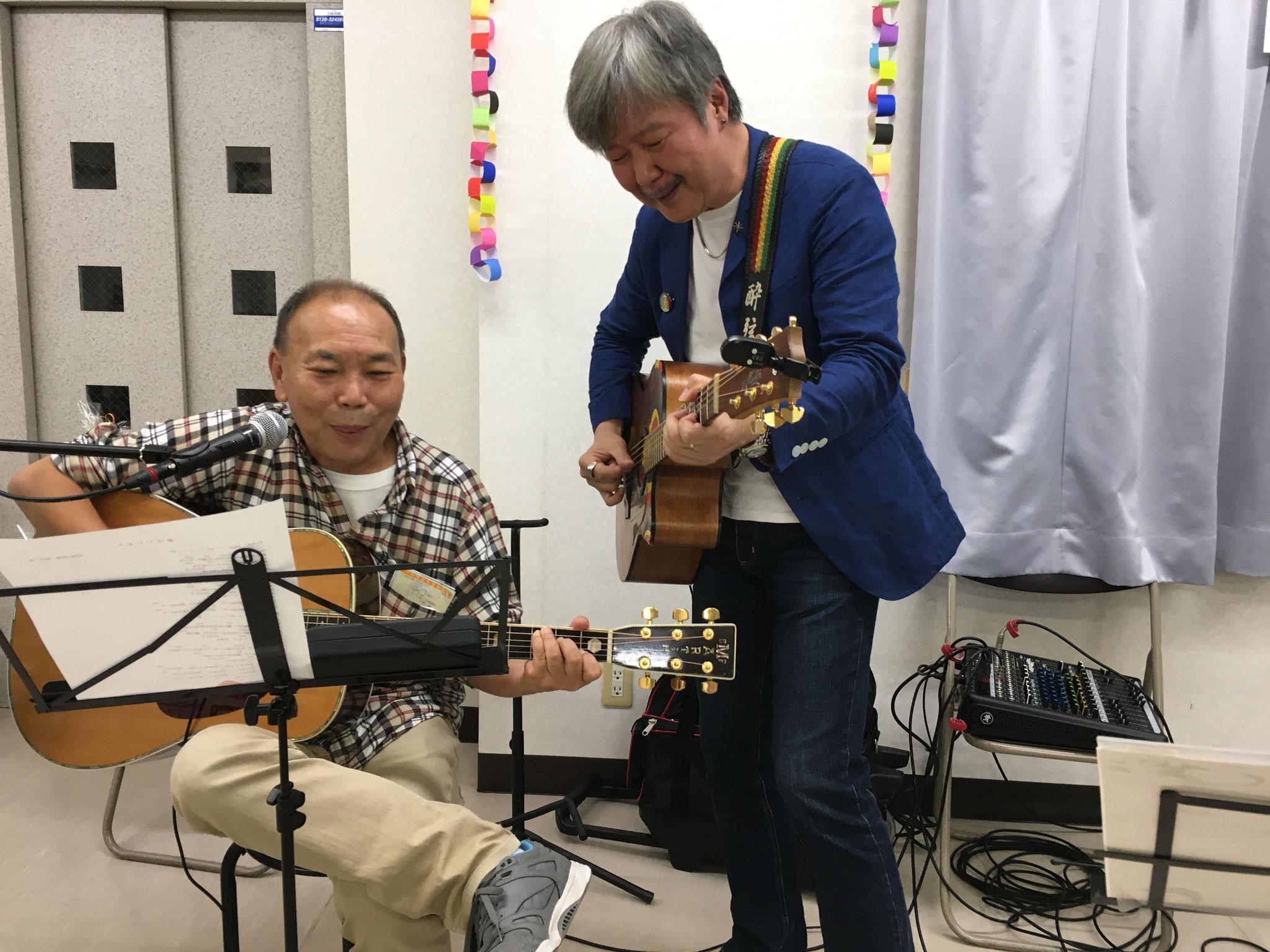 患者さん代表も歌ってくれました。自作自演の名曲です。