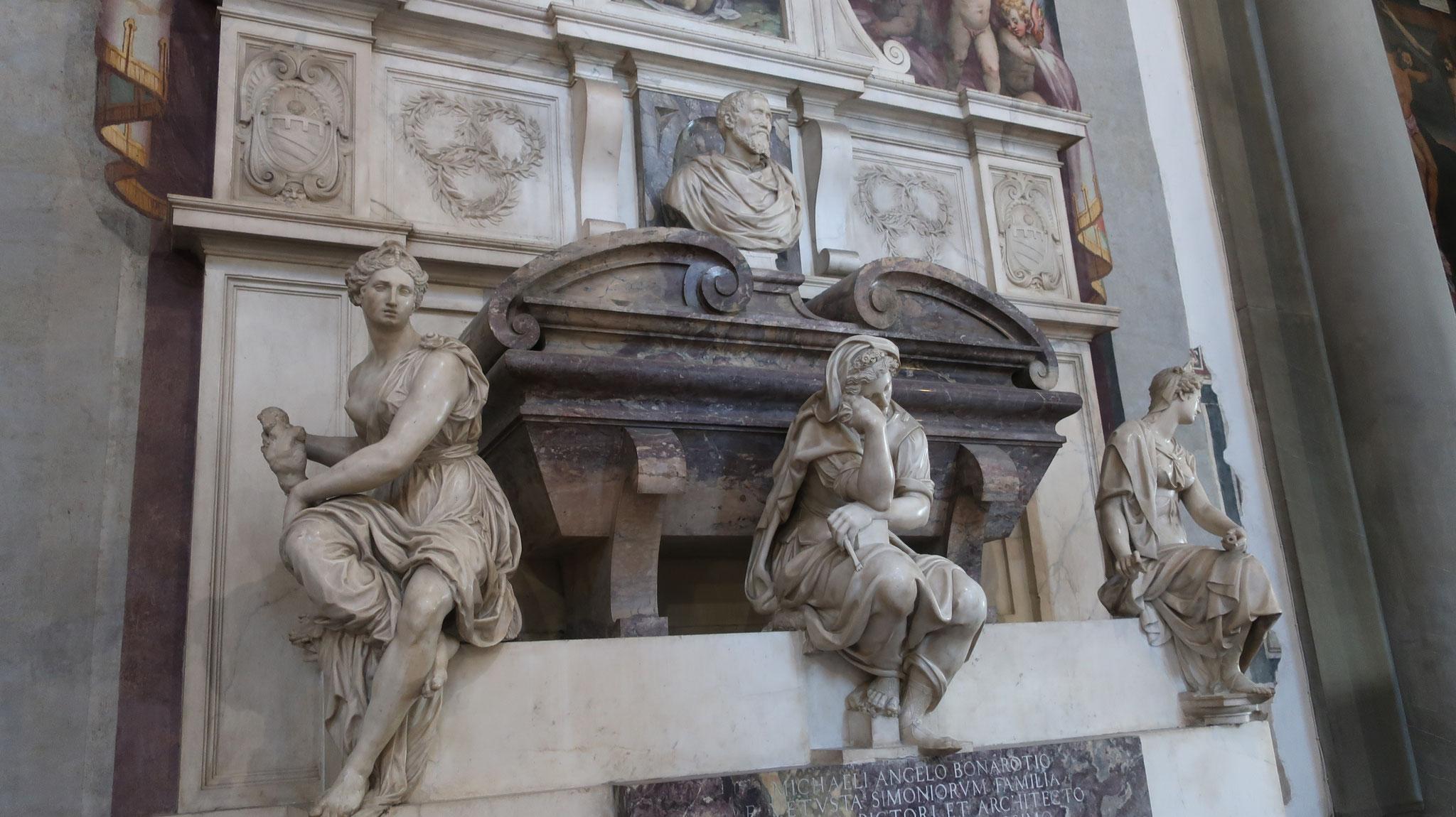 ミケランジェロの墓(ヴァザーリ作)。
