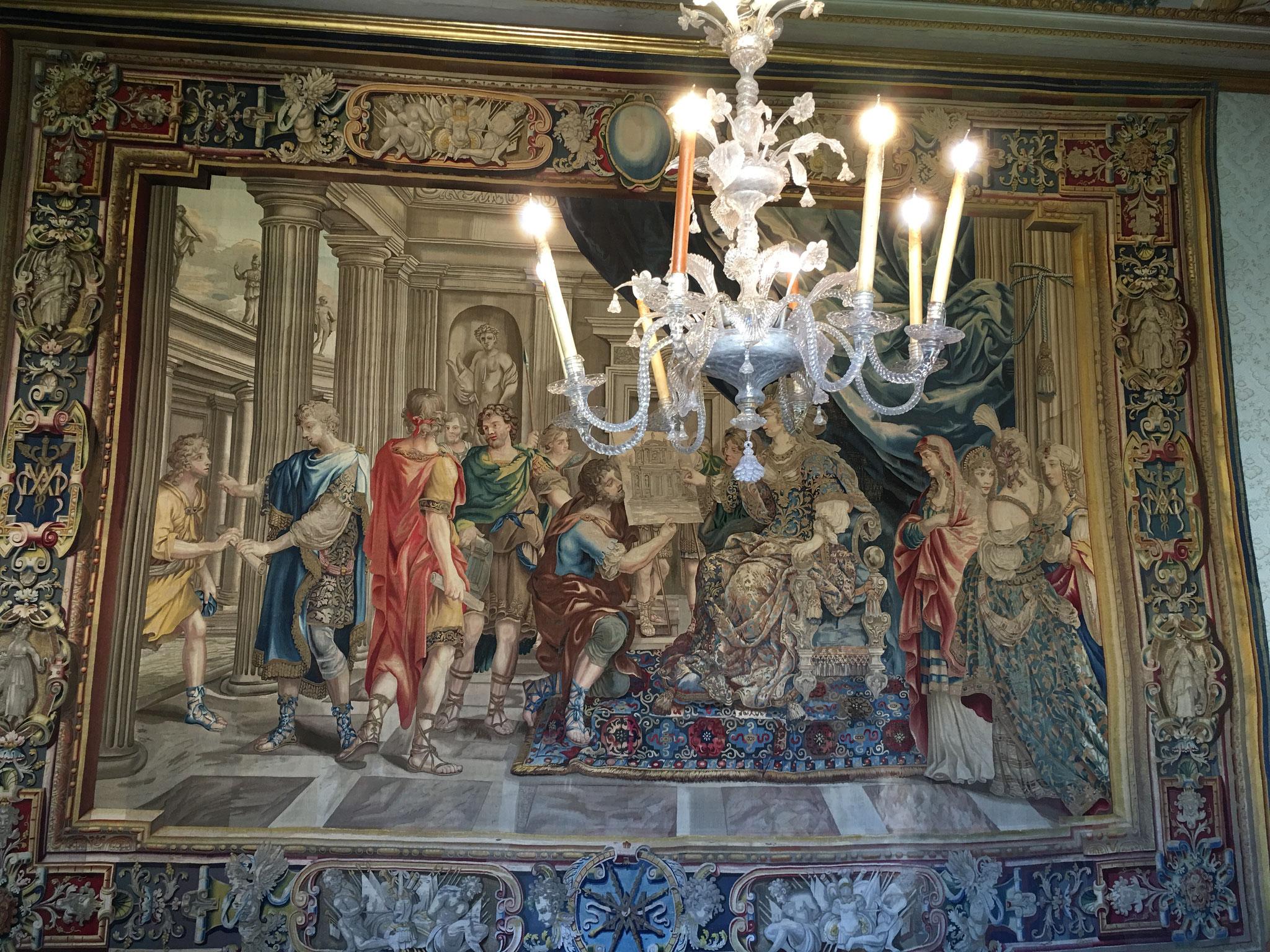 アルテミジア女王にまつわるつづれ織り(タペストリー)。17世紀。