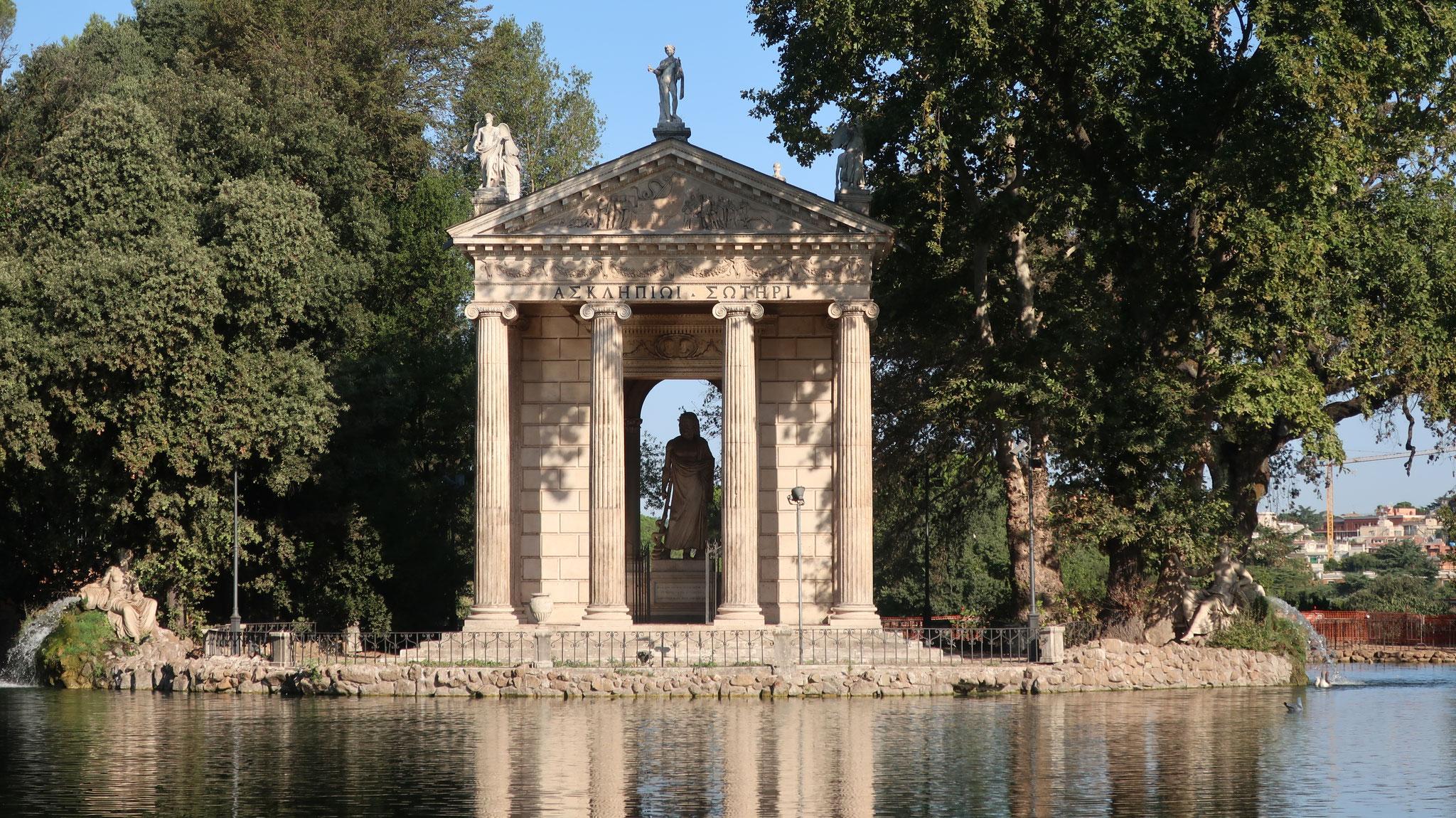 ボルゲーゼ公園にあるアスクレピオス神殿(19世紀)