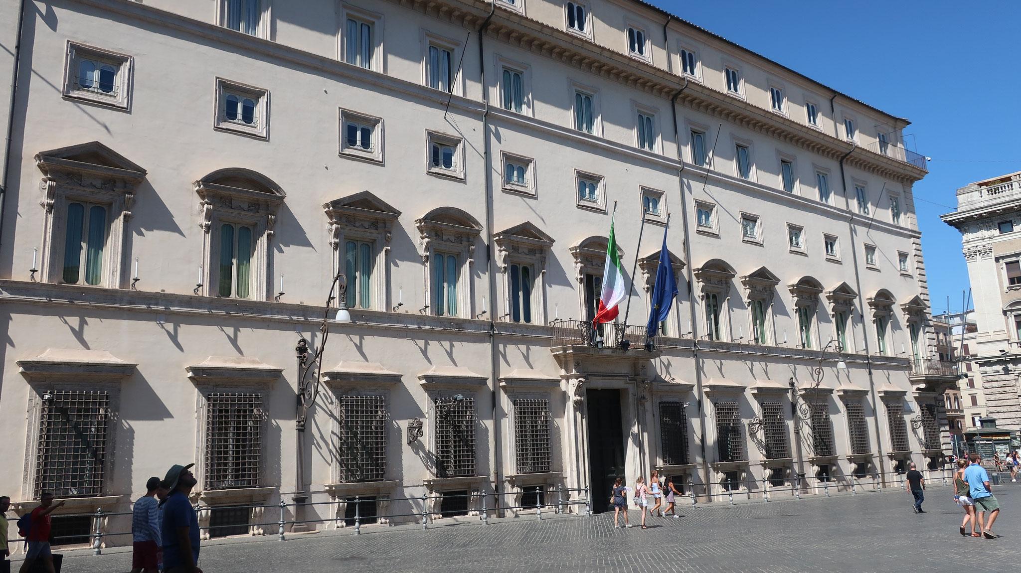 キージ宮殿。現在はイタリア首相官邸。