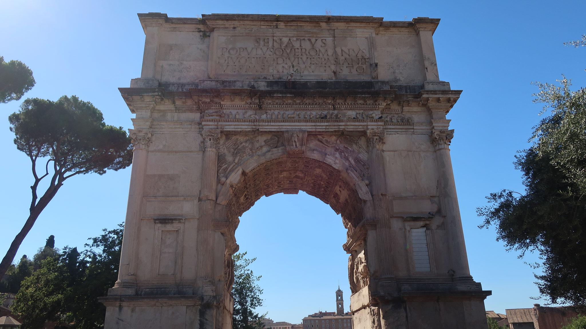 ティトスの凱旋門。紀元1世紀。現存する最古の凱旋門。