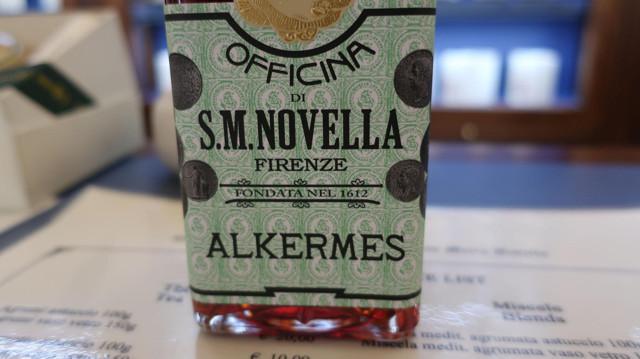 「アルケルメス」。 「えんじ虫」という、サボテンに生息する虫を煮出して作るリキュール。養命酒のような酒。
