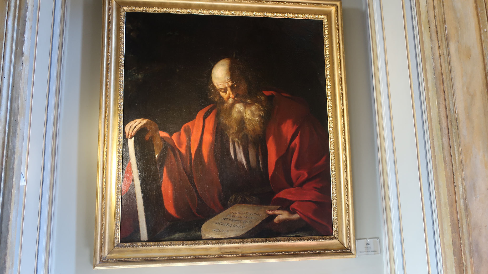「律法の板を持つモーゼ」。16世紀、グエルチーノ作。