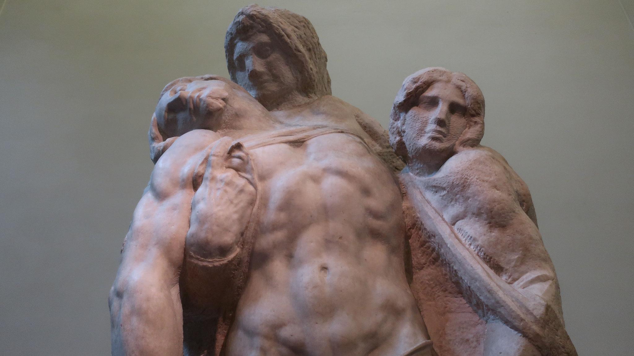 アカデミア美術館。パレストリーナのピエタ像、ミケランジェロ作。