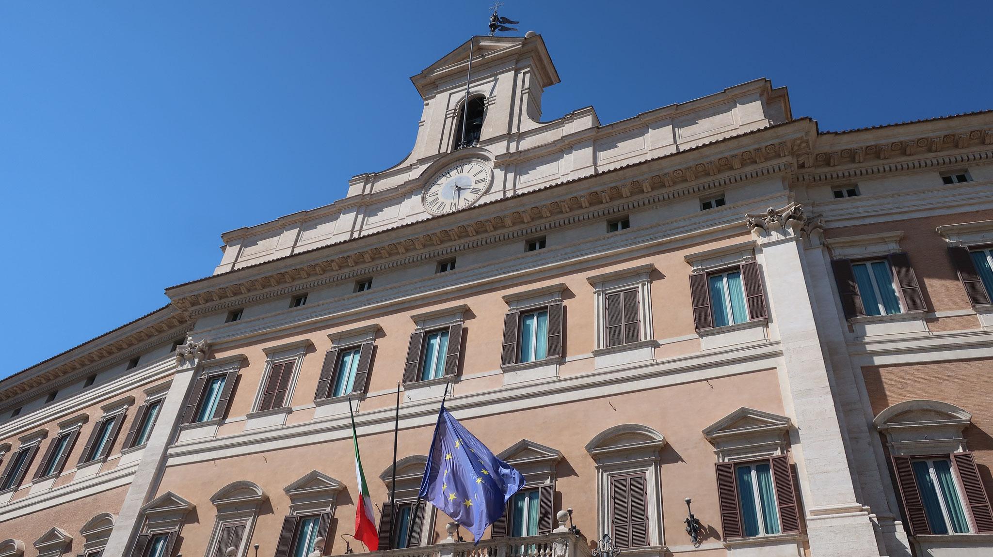 モンテチトーリオ宮殿。現在は、国会(下院)議事堂。