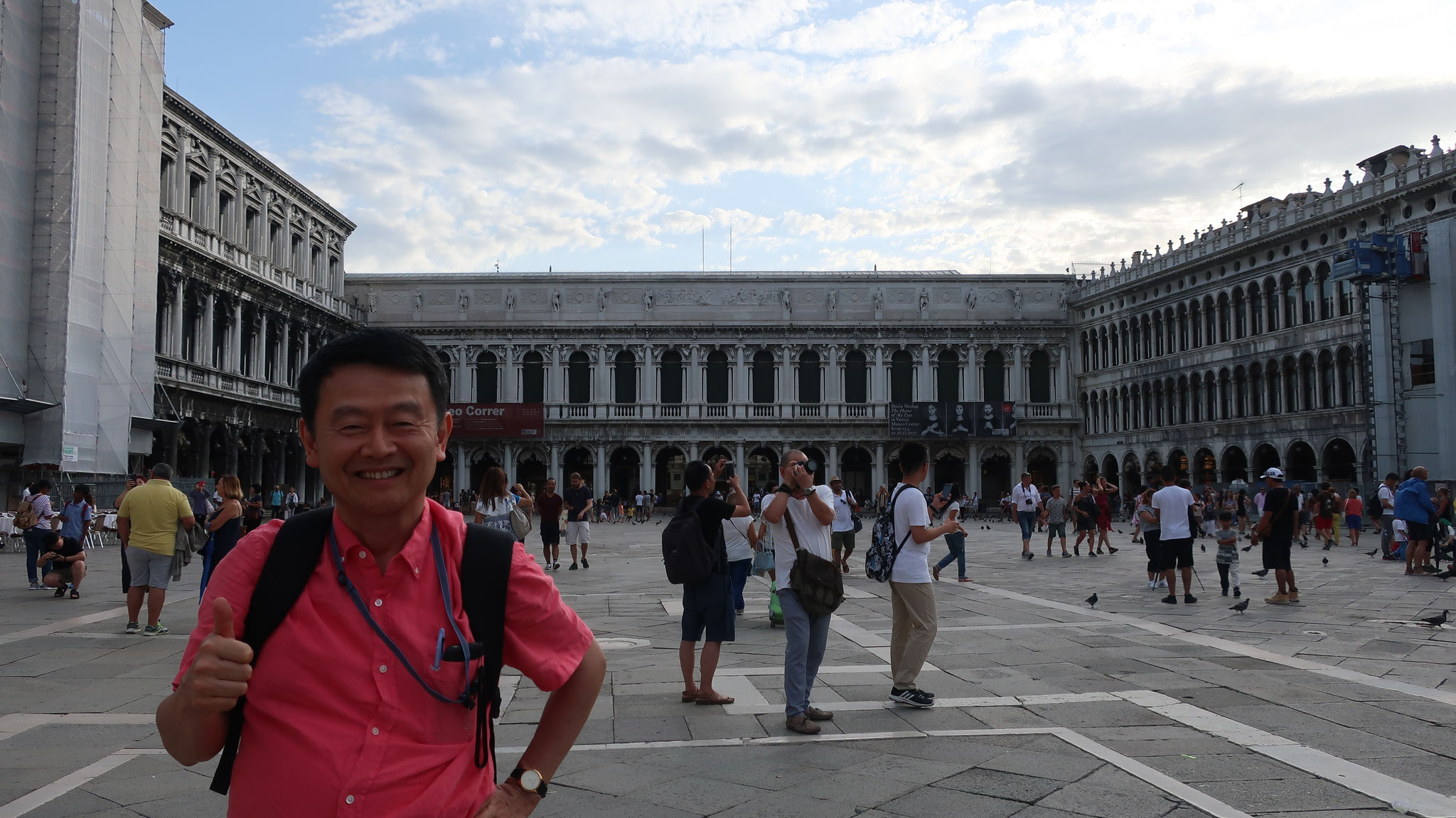 サン・マルコ広場。後方はナポレオンの翼壁。