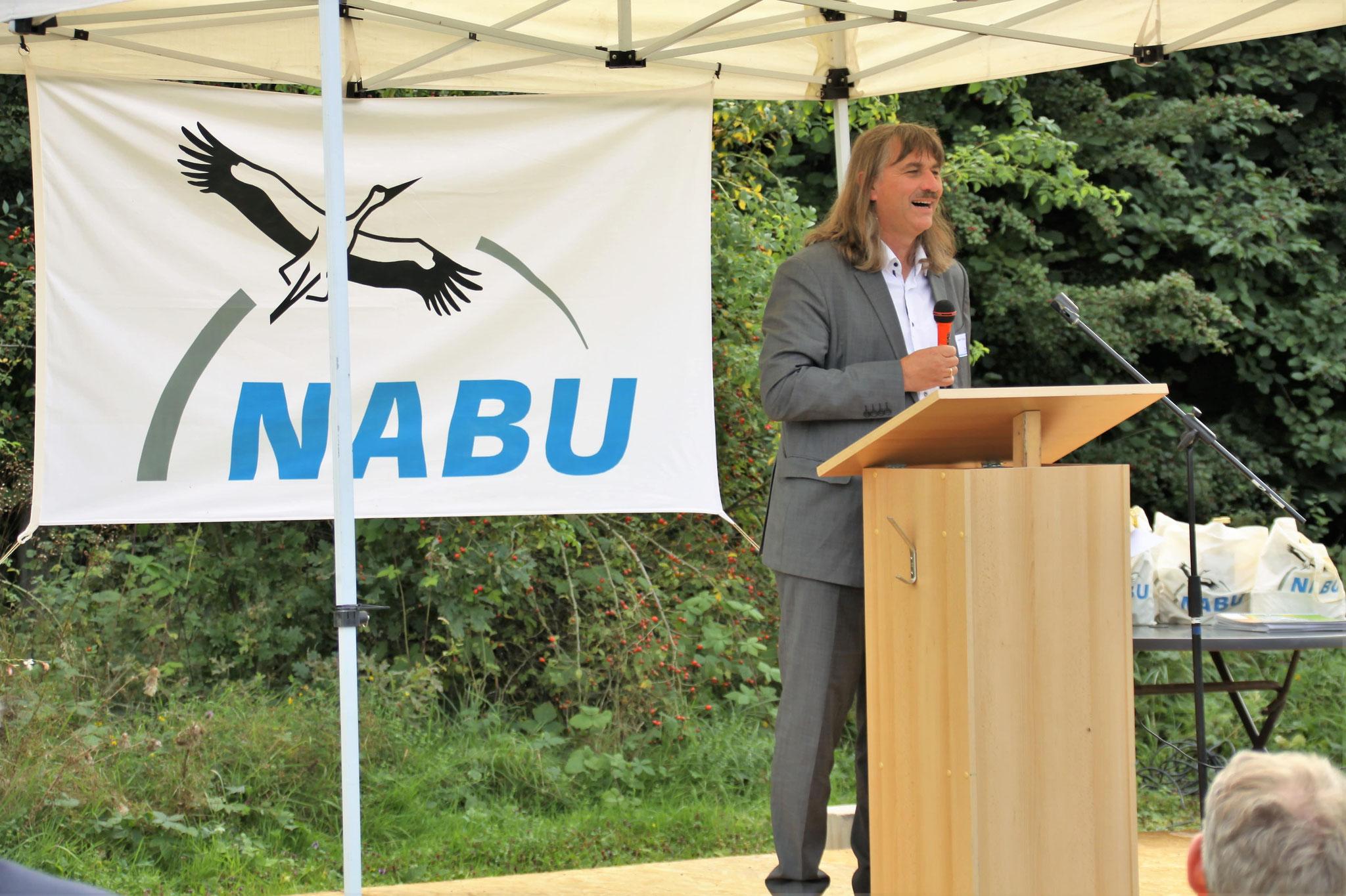 Festredner war Josef Tumbrink, bis 2019 Landesvorsitzender im NABU NRW