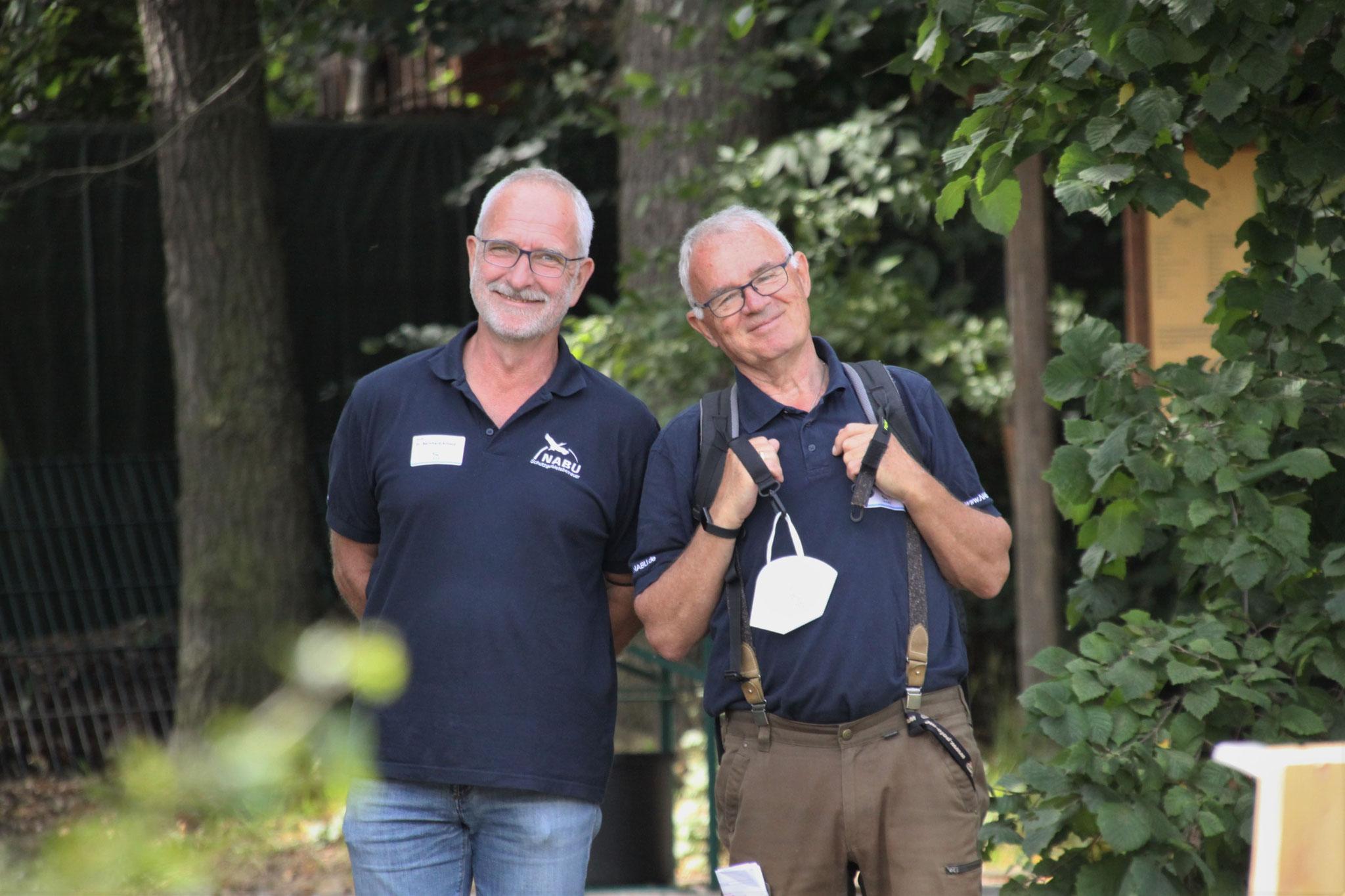 Zwei gestandene NABU-Aktive: Bernd Arnold und Hartmut Volkammer