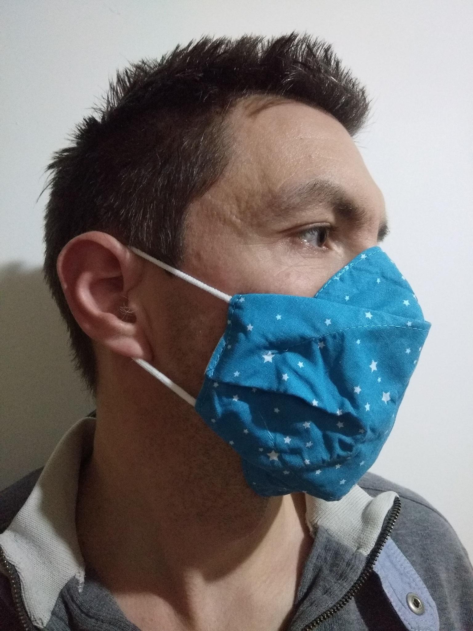 Masque AMÉLIORÉ ADULTE liens derrière les oreilles