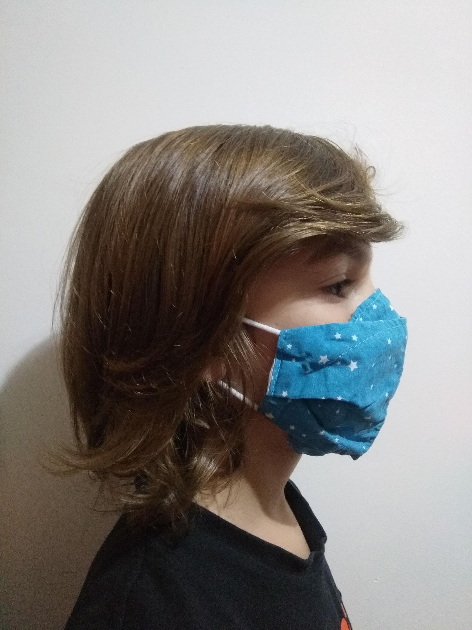 Masque AMÉLIORÉ ADULTE sur enfant de 8 ans
