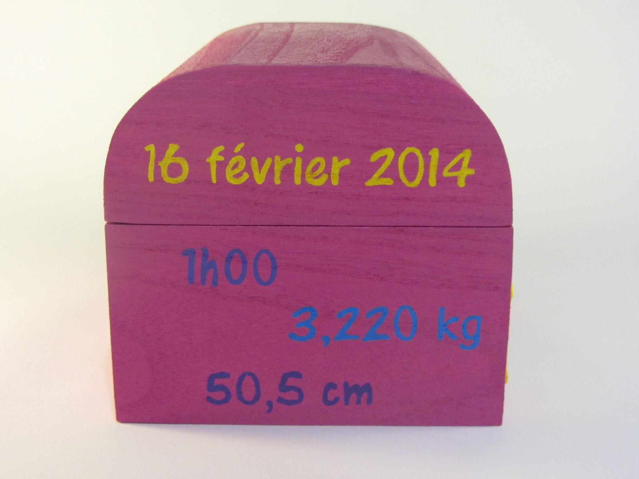 Coffret souvenirs de naissance fuchsia - Le Chaton et sa Poulette