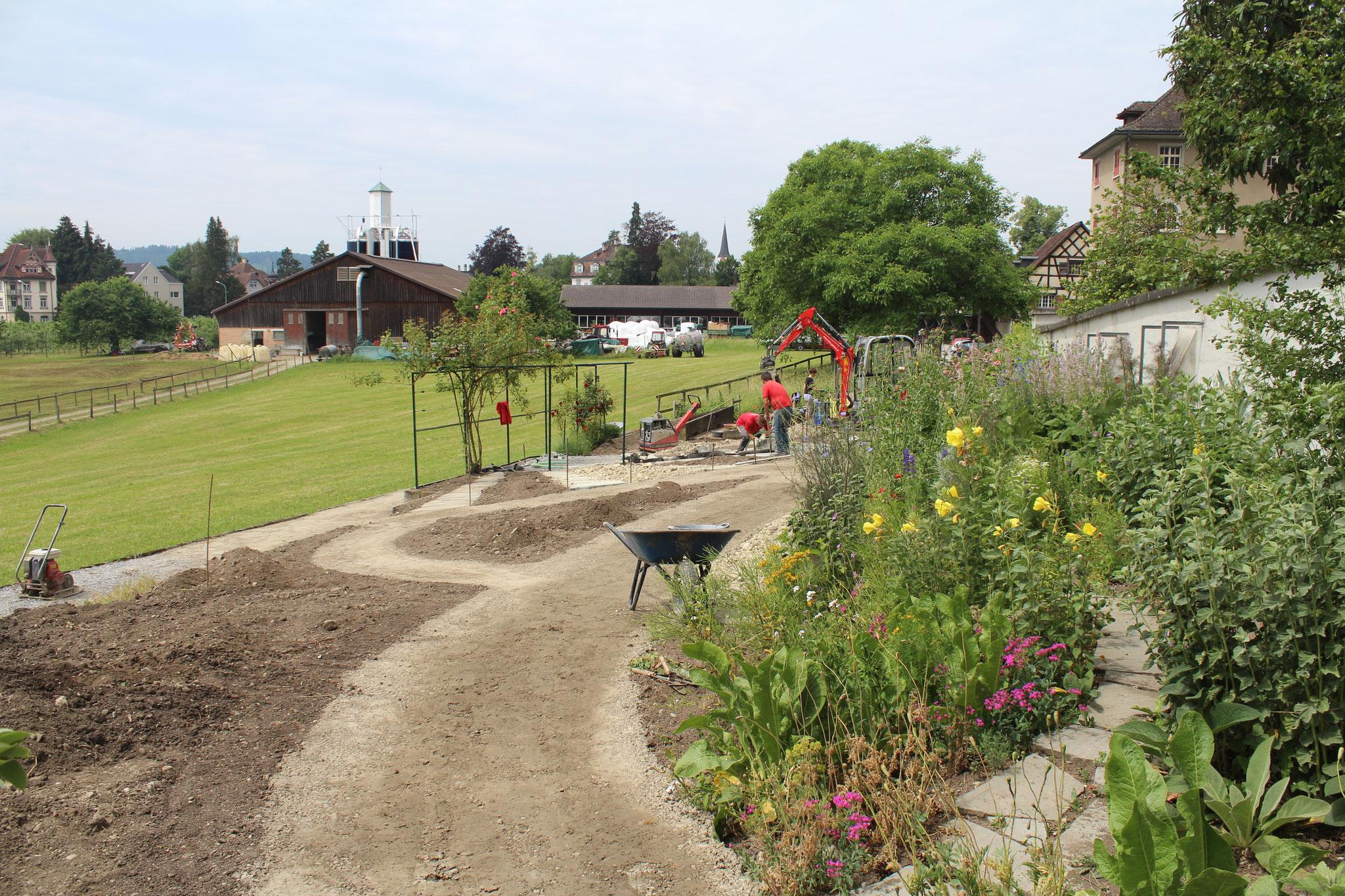 Der Kräutergarten wird neu gestaltet 2017