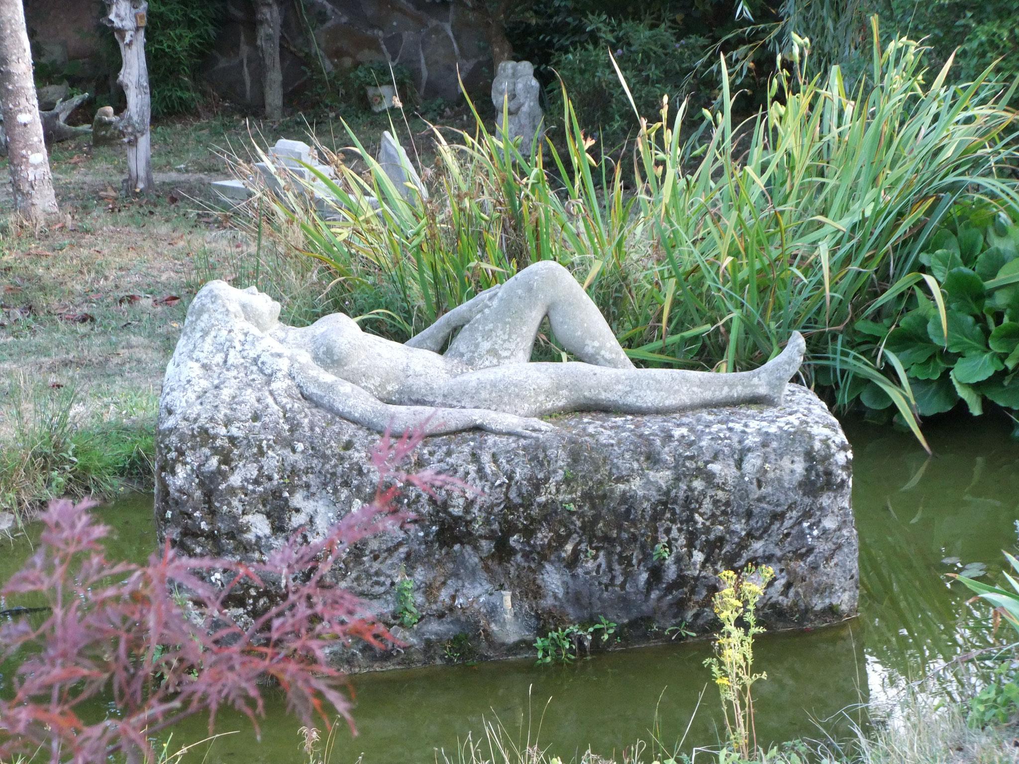 das Kunstwerk im Garten des Victor Corral de Castro