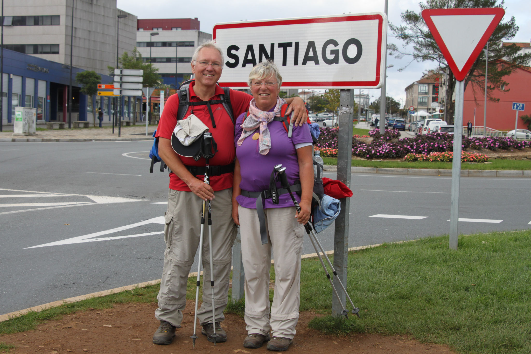 Ankunft in Santiago de Compostela