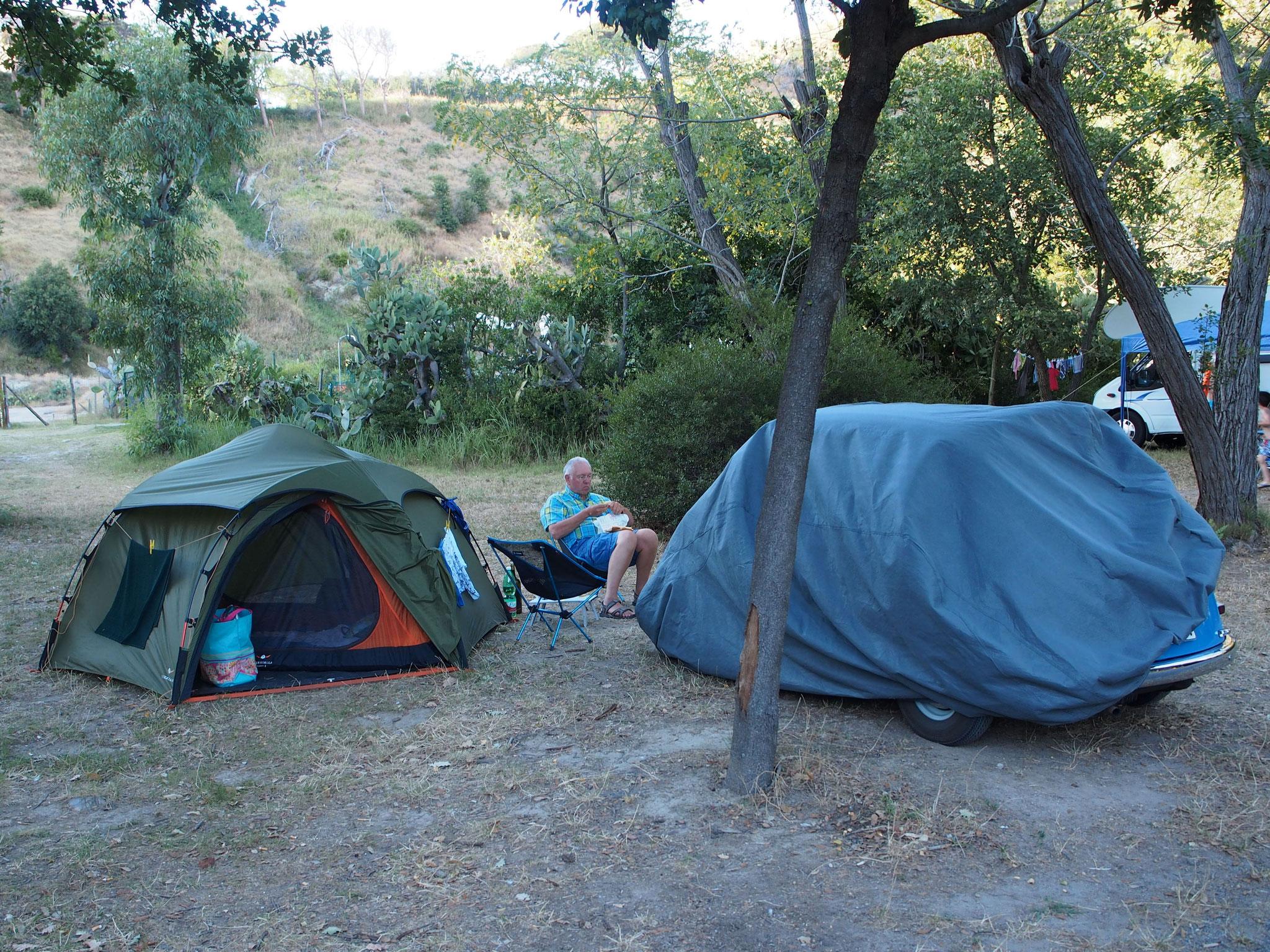 Camping im Solfatara