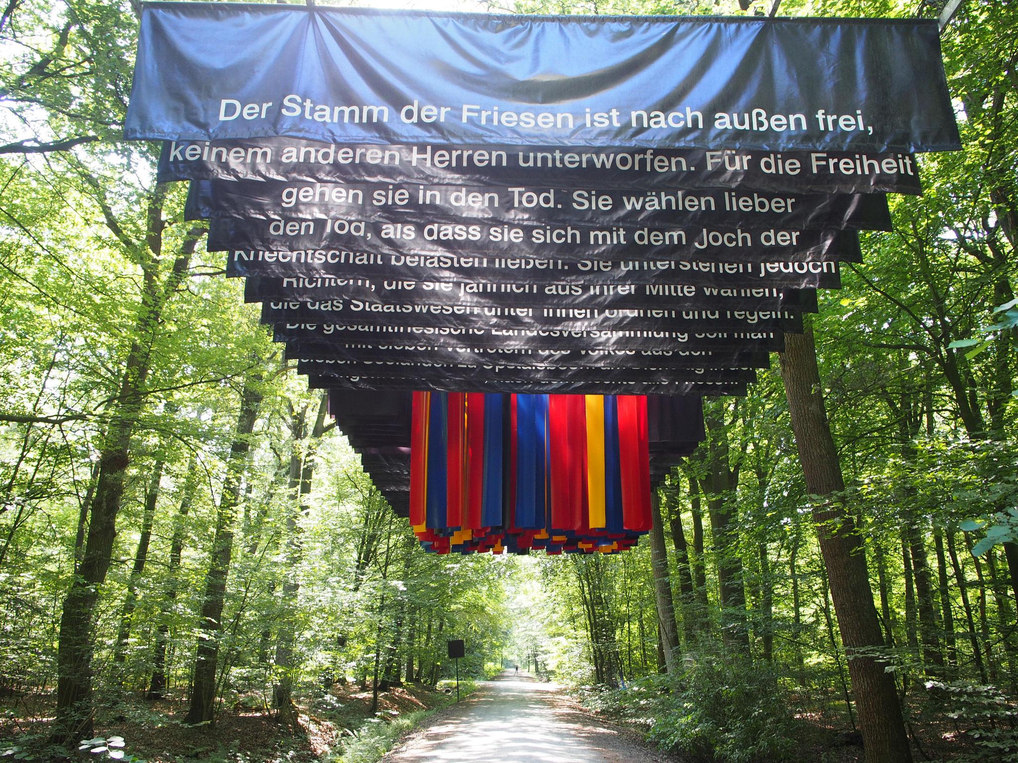 """Land-Art-Kunstwerk zur """"Friesischen Freiheit"""""""