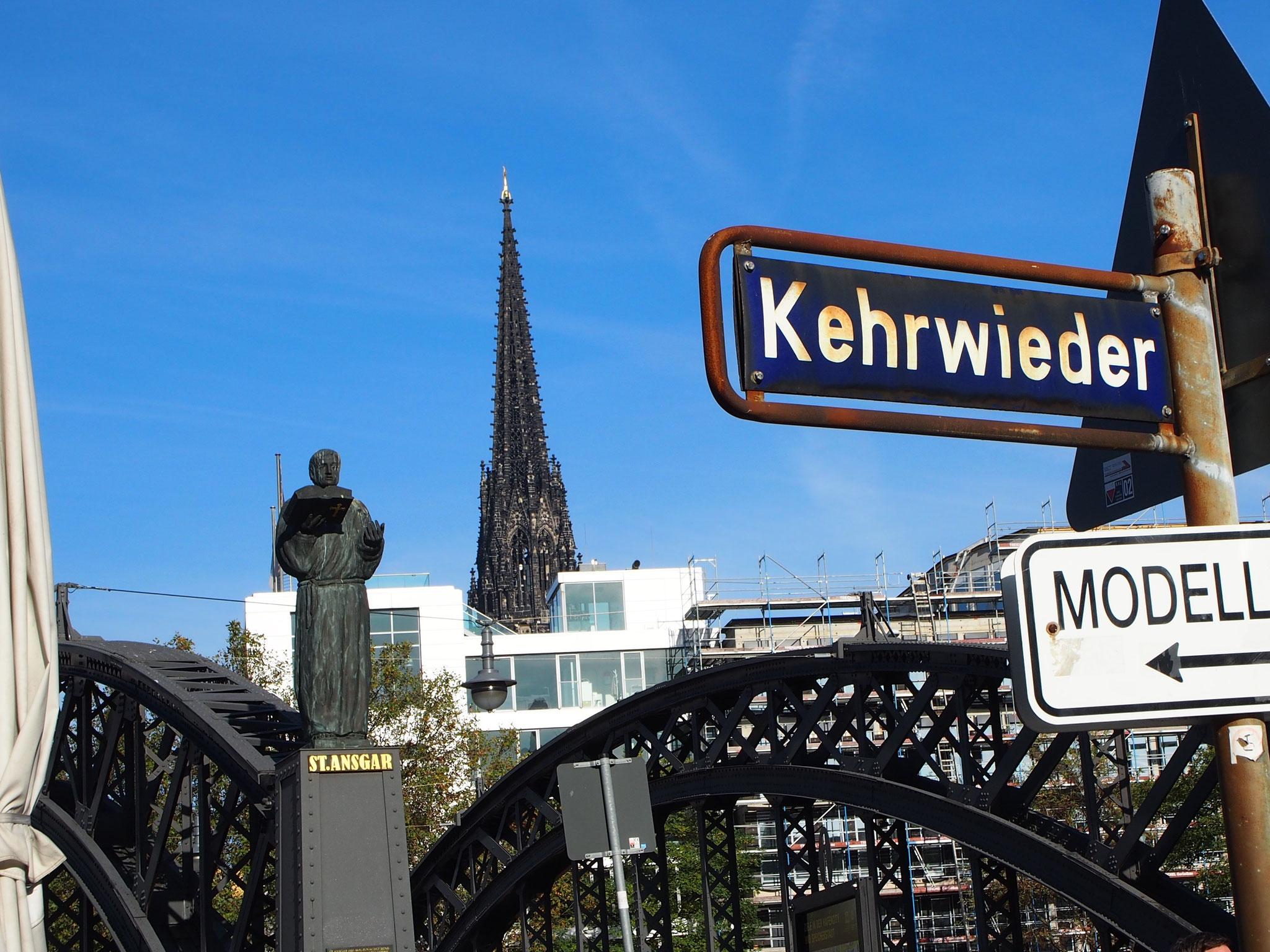 die Straße Kehrwieder in der Hamburger Speicherstadt