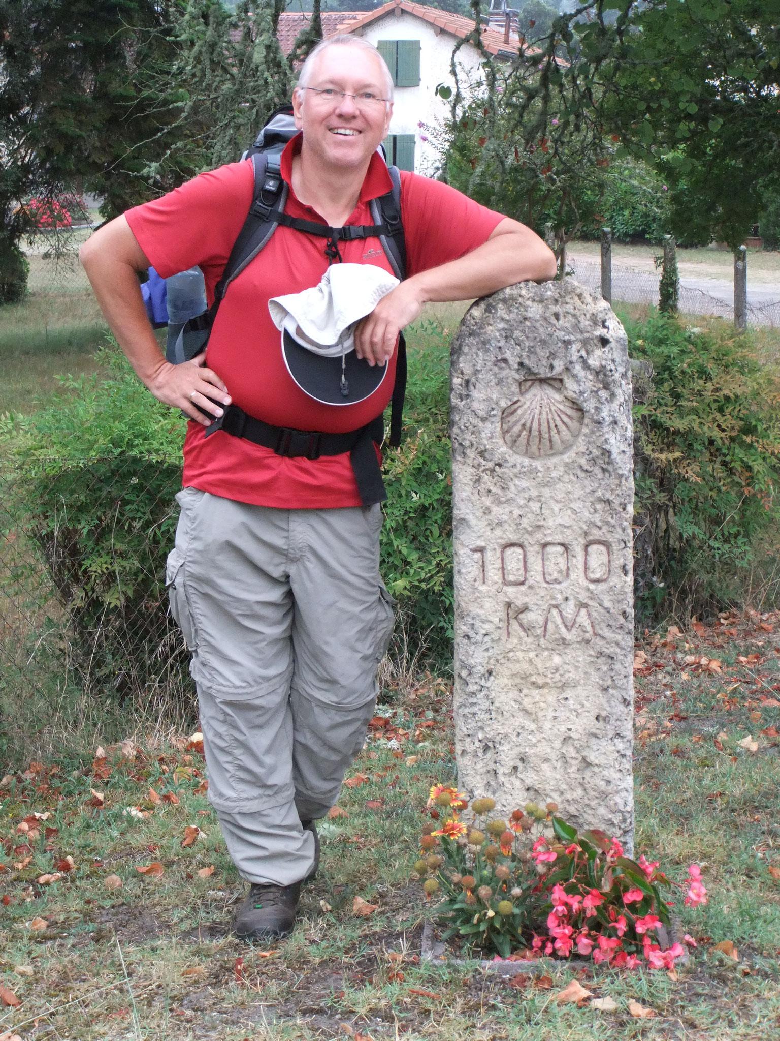 Frankreich, nur noch 1.000 Kilometer bis Santiago