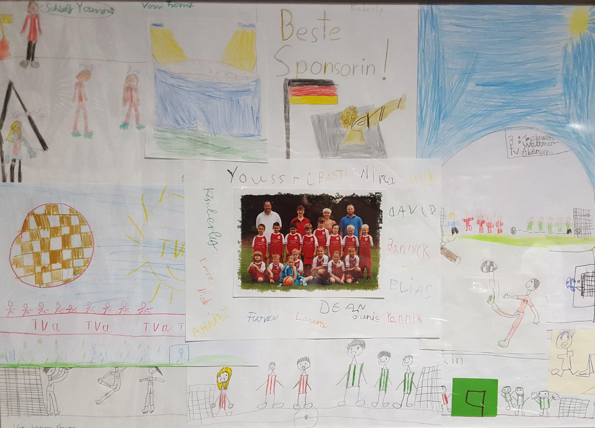 ...das liebevoll gestaltete Dankeschön der jungen Fußballer