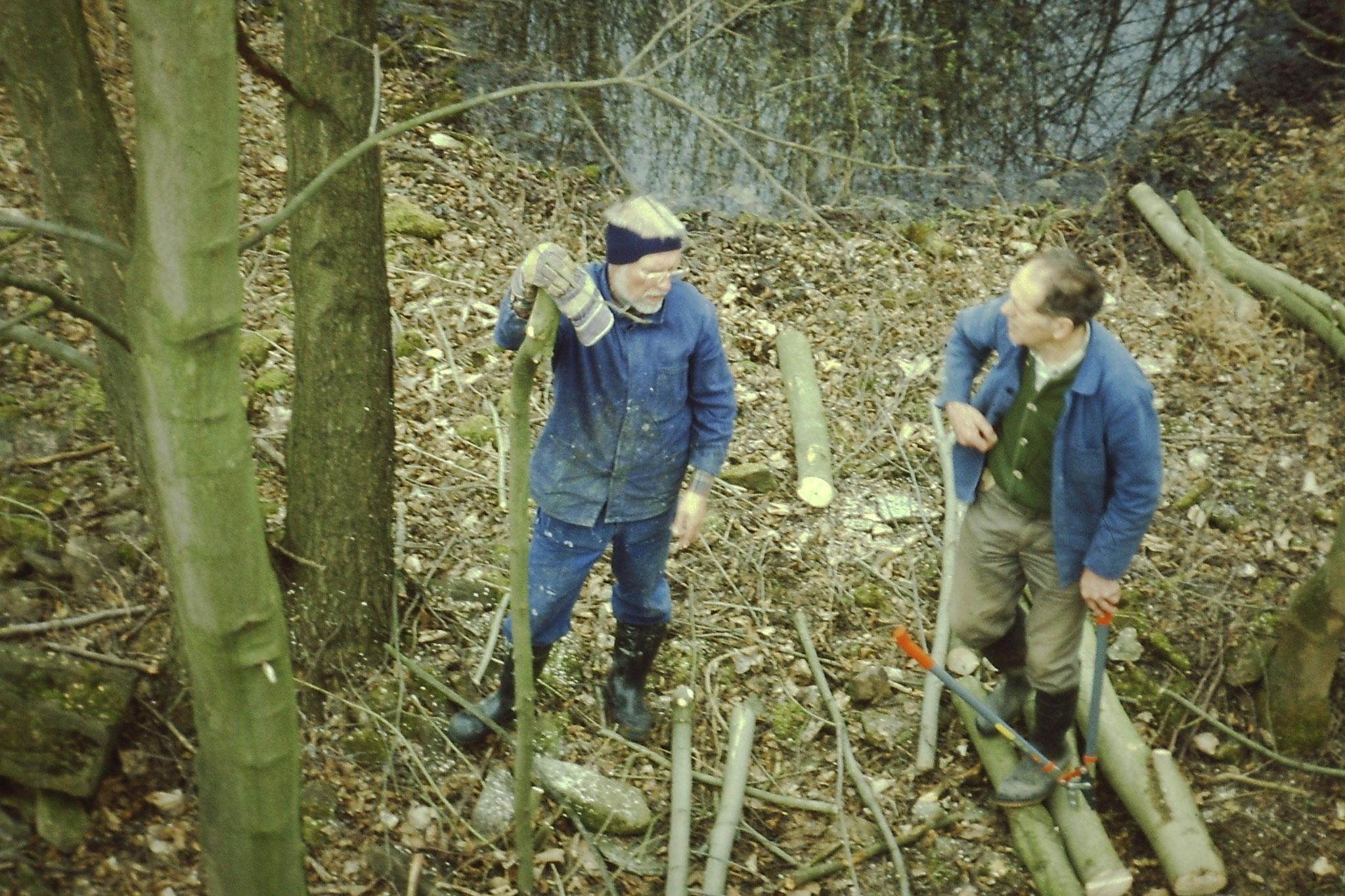 Günther und Werner beim Arbeitseinsatz Foto NABU
