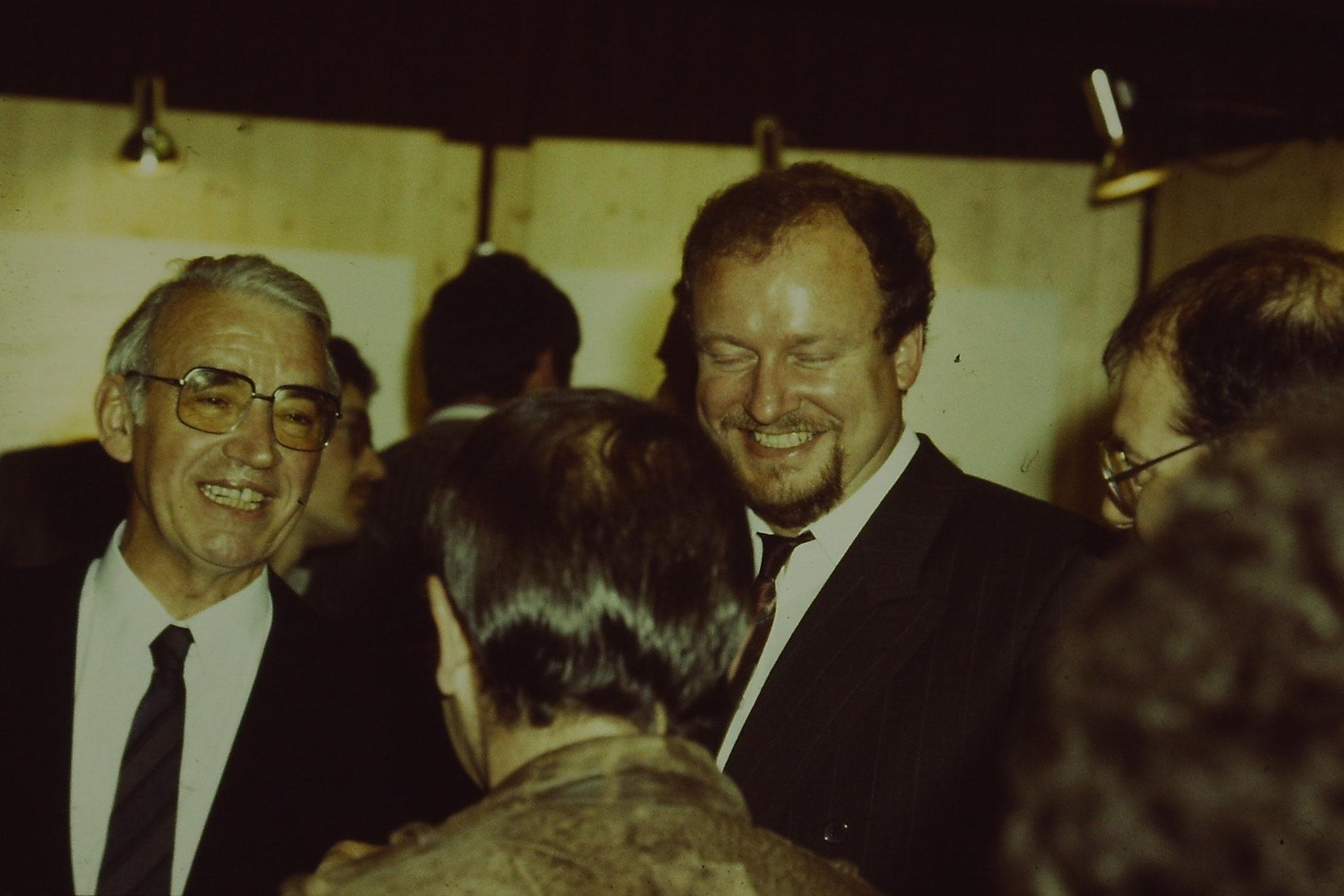 BM. Kurt Schmid und BM Wolfgang Schmidt DBV Gründung 1984 Foto NABU