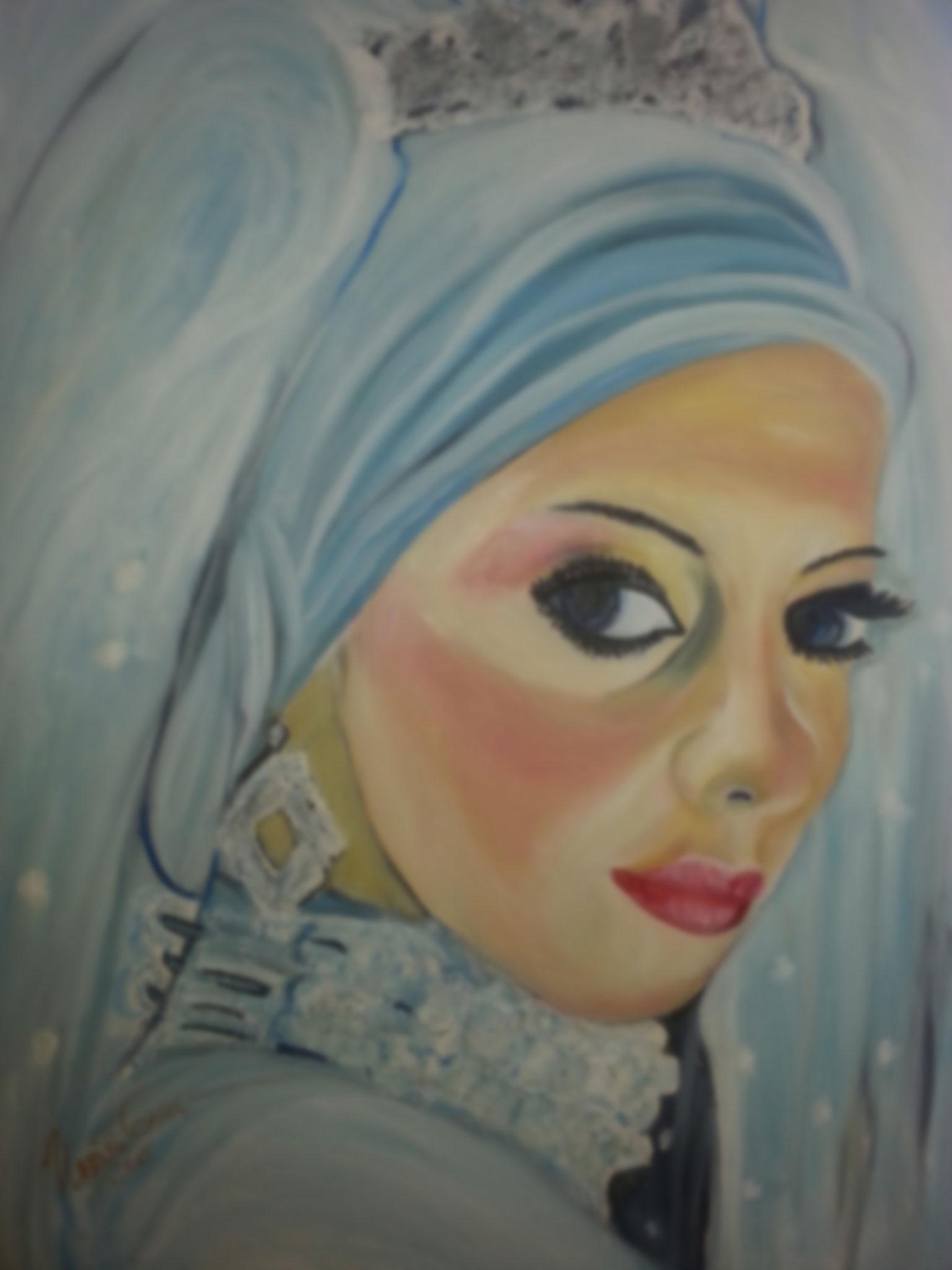 Arabian Princess   ( Technik: Acryl/Öl      Leinwand: 1,20 m X 90 cm)
