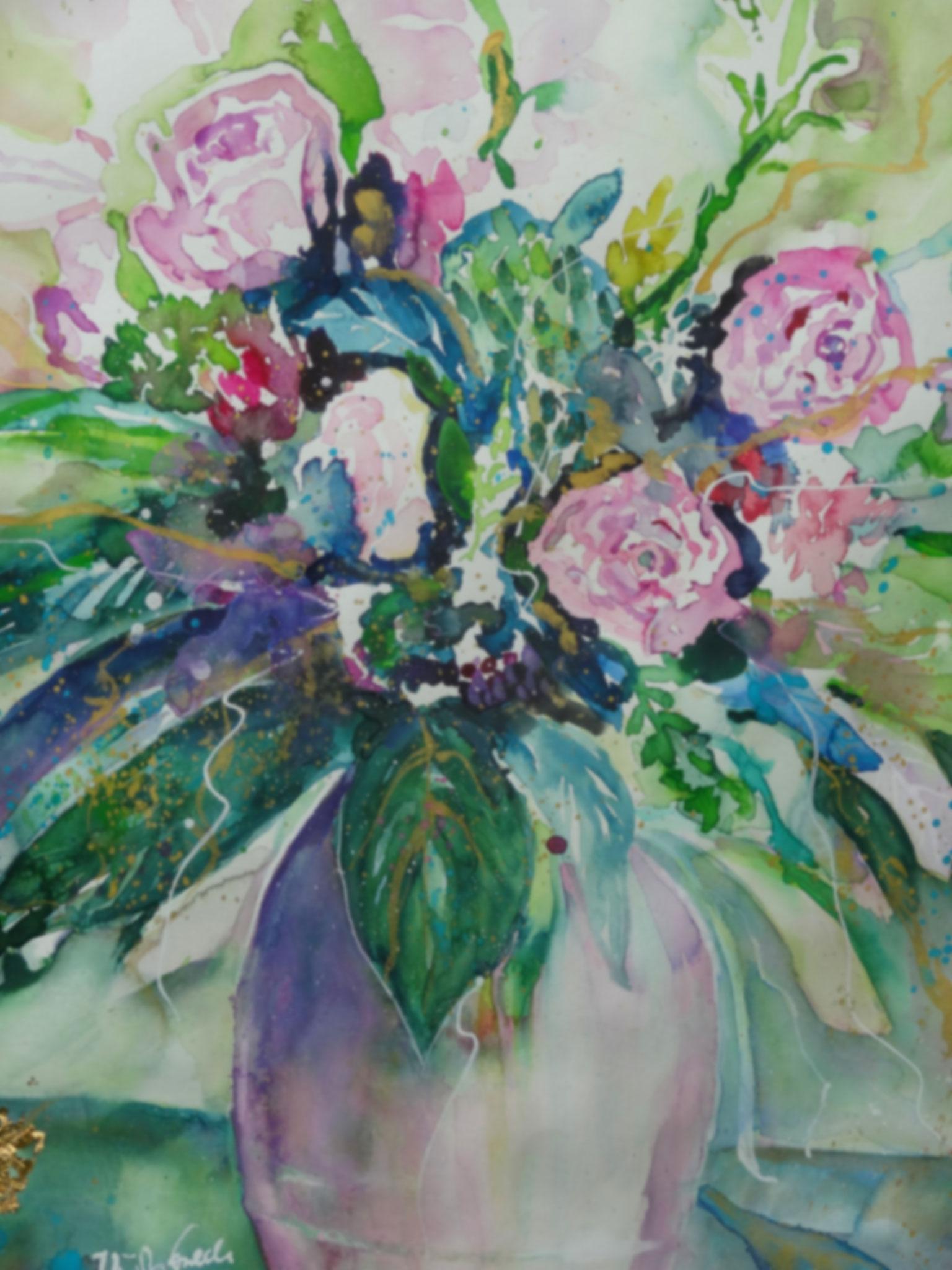 Flower-Portrait       (Technik: Aquarell)