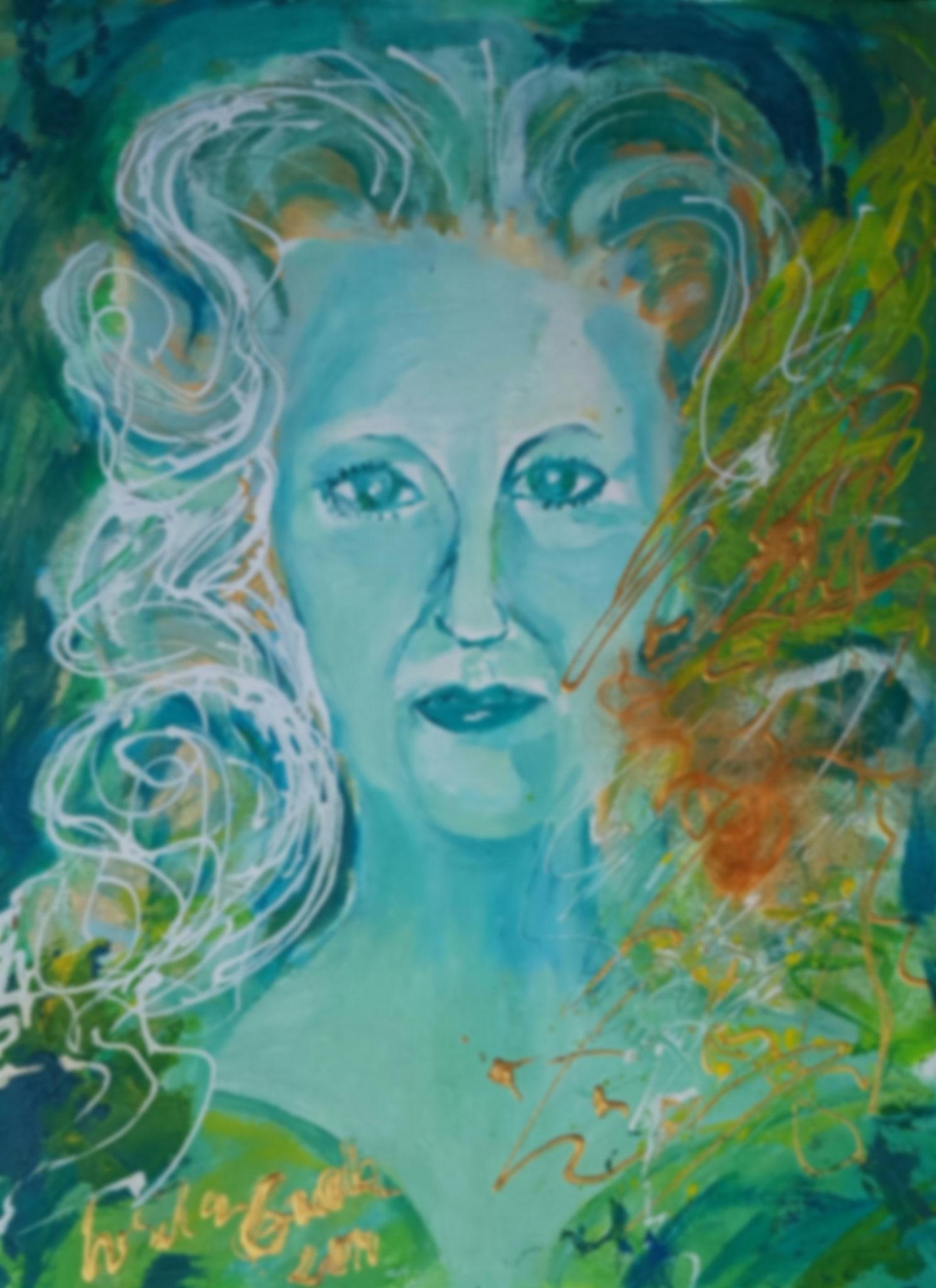 Selbst-Portrait (Technik: Acryl/Öl /Mixed Media  30 X 69 cm)