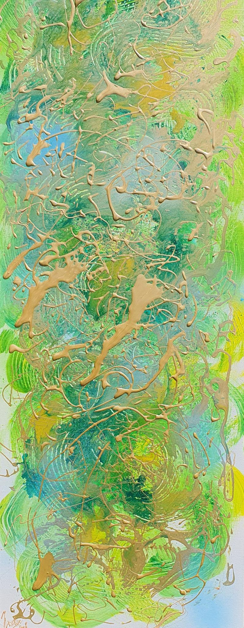 Summerbreeze   (Technic: Acryl/Mixed Media on Canvas 40 X 120 X 1,5 cm)