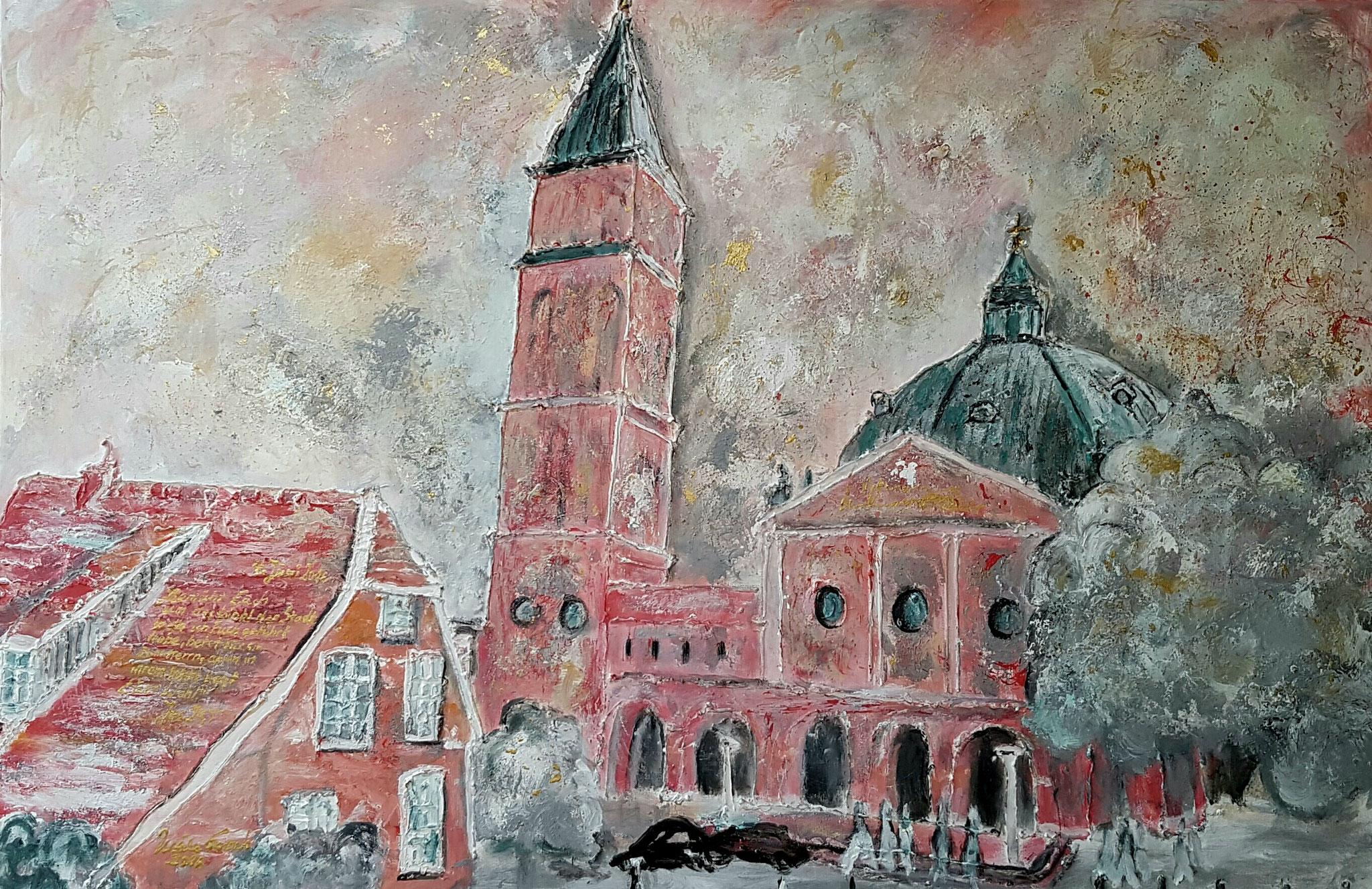Stadtpfarrei St. Augustinus Nordhorn (Technik: Acryl/Mixed Media  Leinwand: 1,20 m X  90 cm)