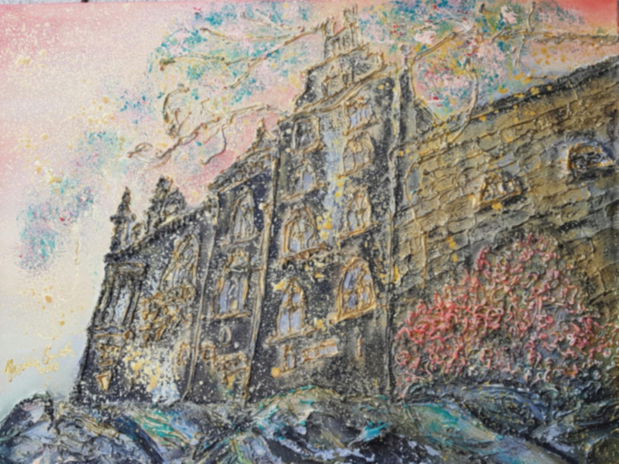 Burg Bad Bentheim (Technik: Mixed Media    Leinwand: 59 X 78 cm)