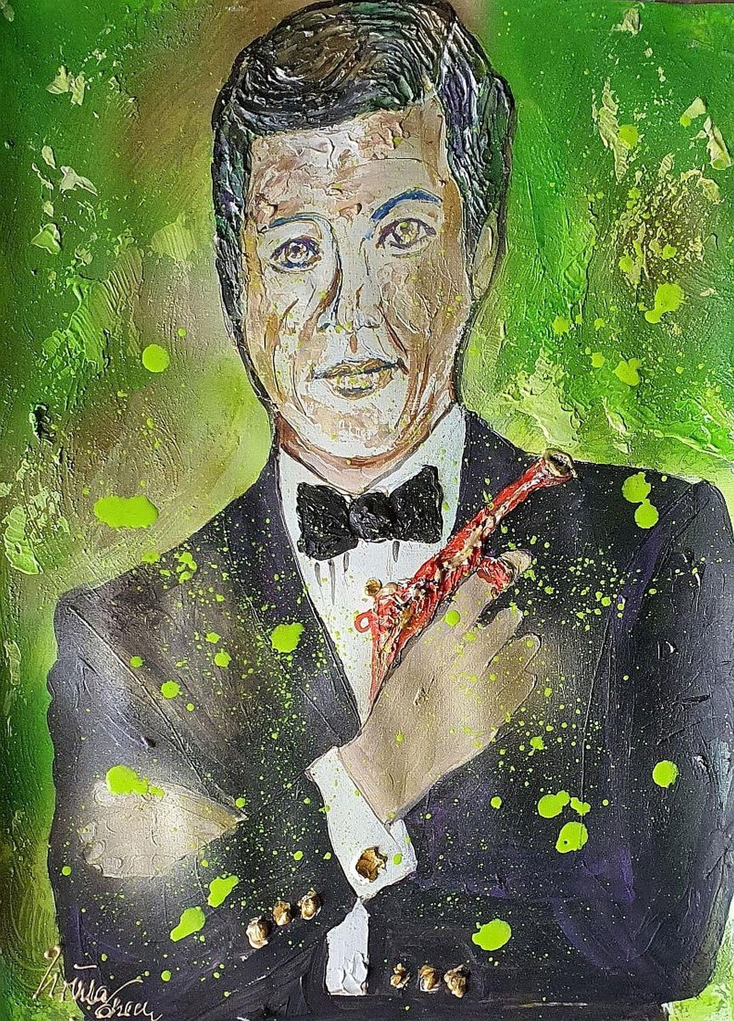 My name is Bond, James Bond (Acryl auf Spez.-Paper 56 X 42 X 0,1 cm)