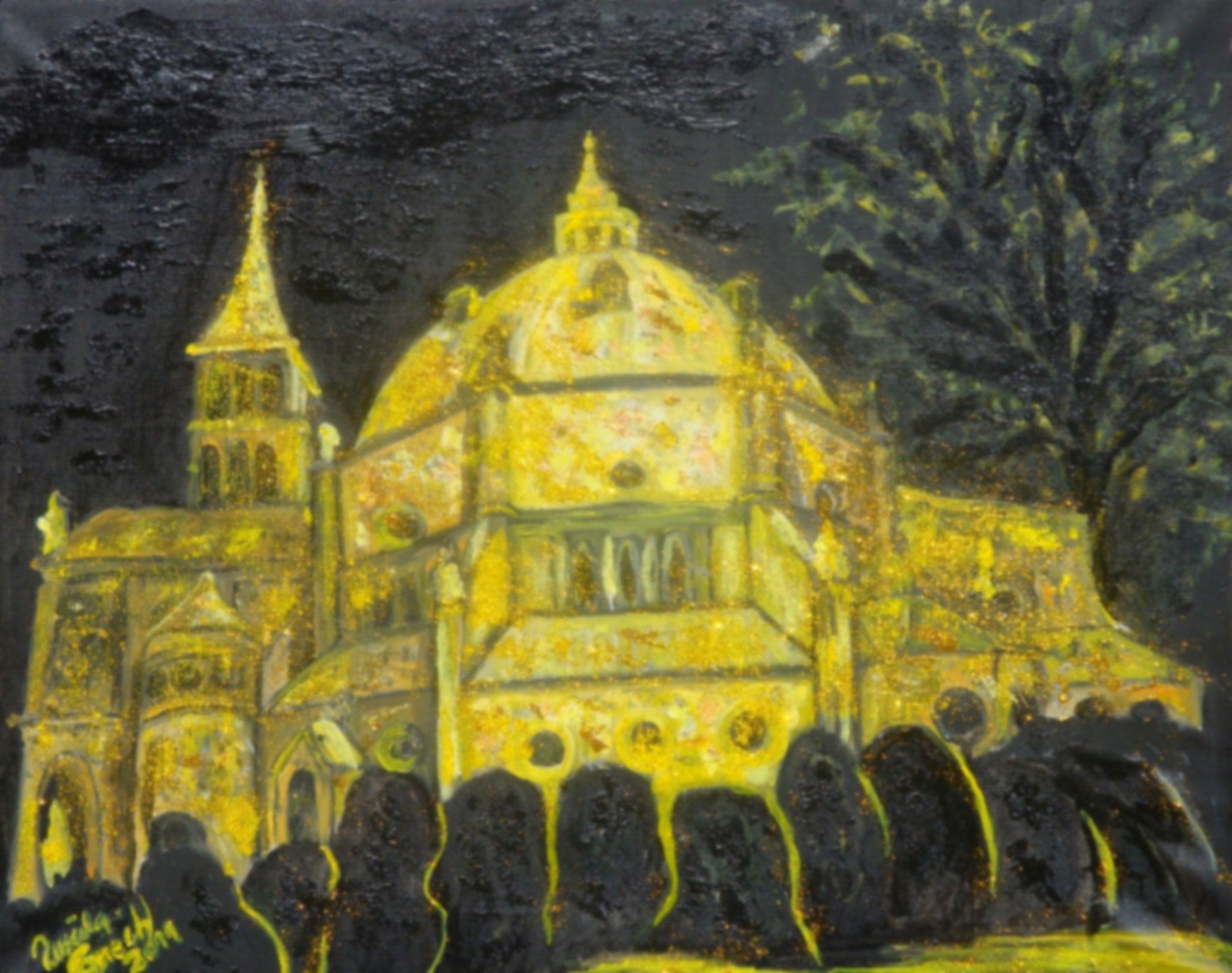 100 Jahre St. Augustinus Nordhorn  (Technik: Öl/Mixed Media    Leinwand: 70 X 57 cm)