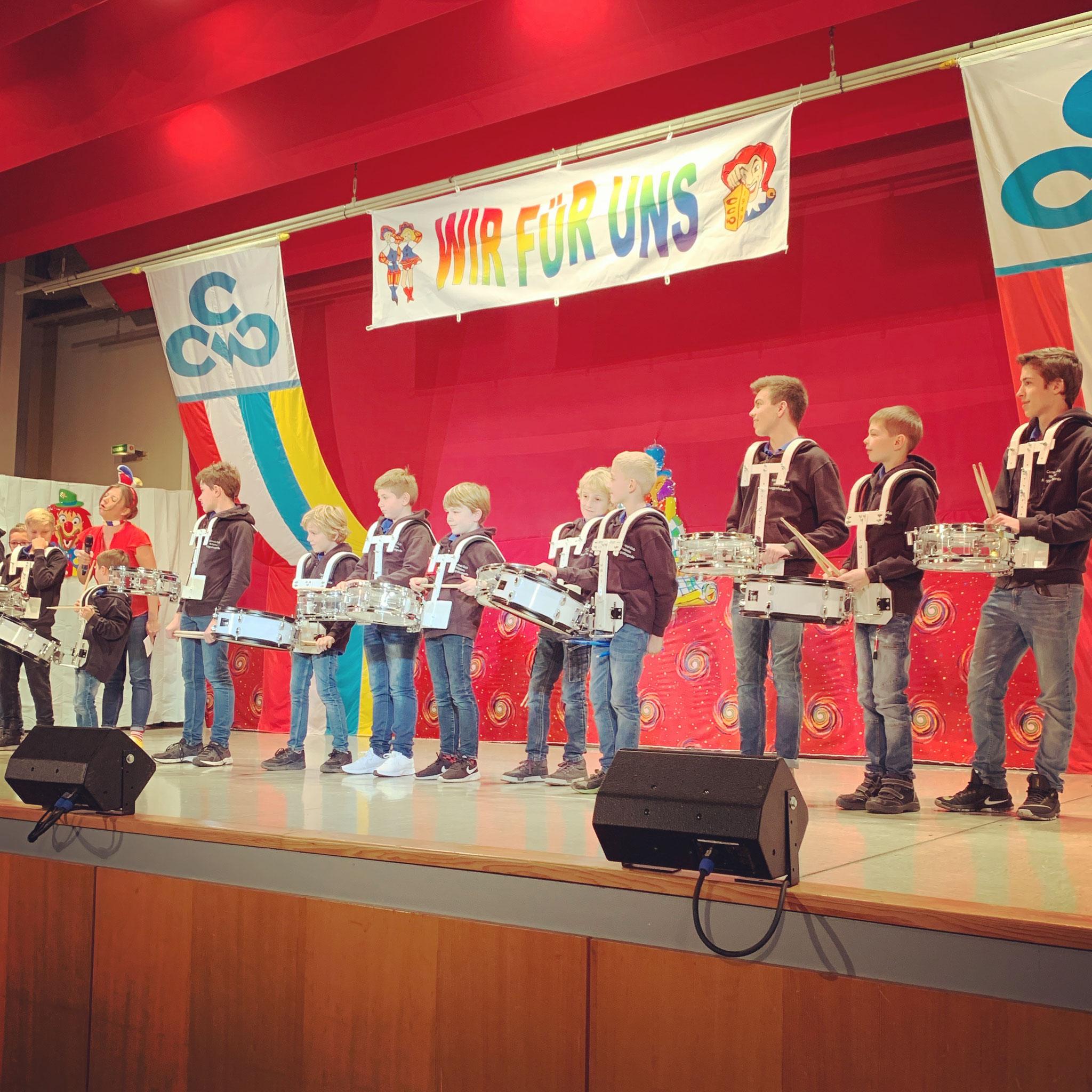 Perfekter Sitzungsstart mit unseren Trommlern, unter der Leitung von Bardo Koch und Sandro Pittalis