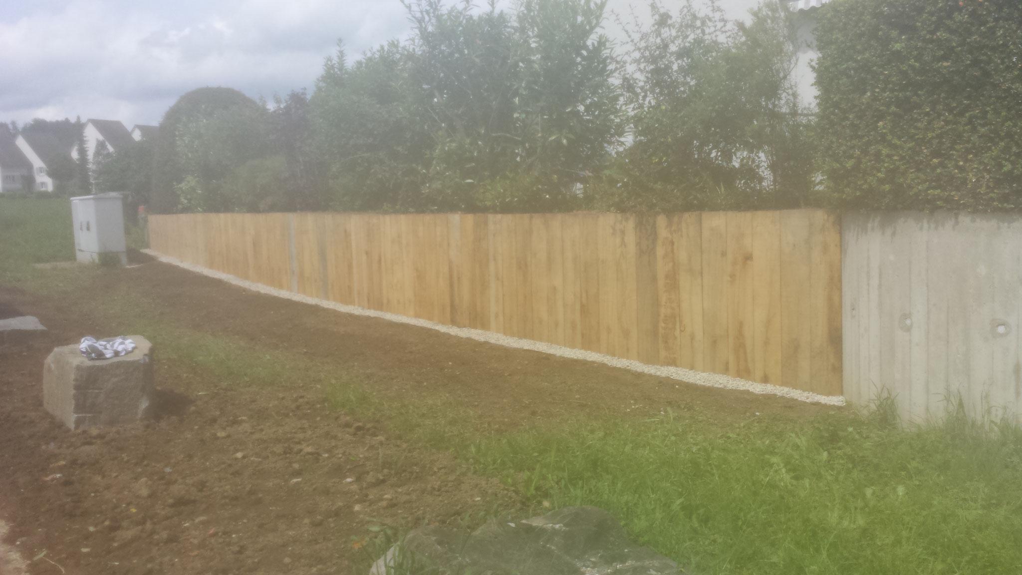 Zäune, Mauern und Wände bauen