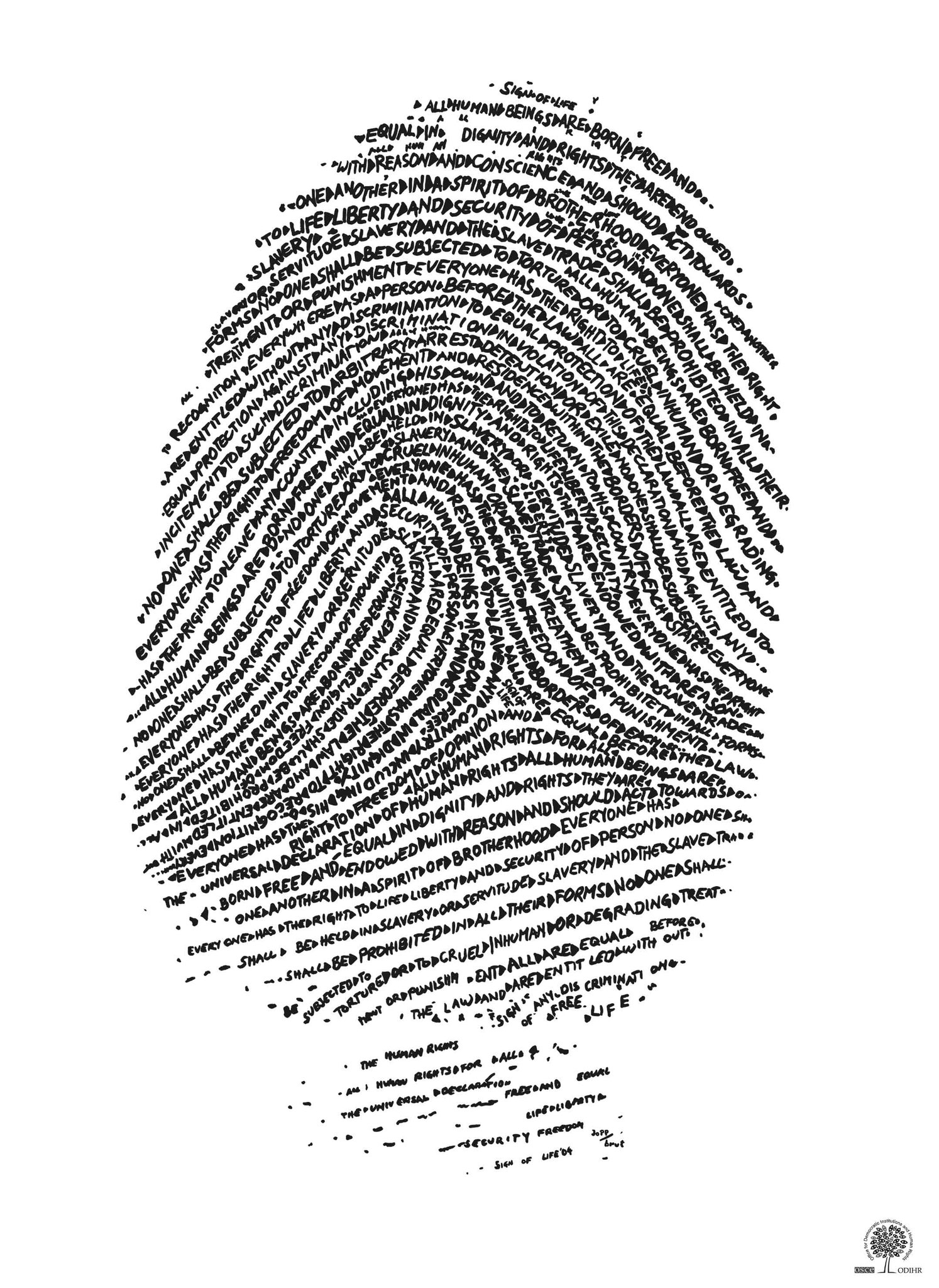 Sign of Life: Fingerprint of Human Rights