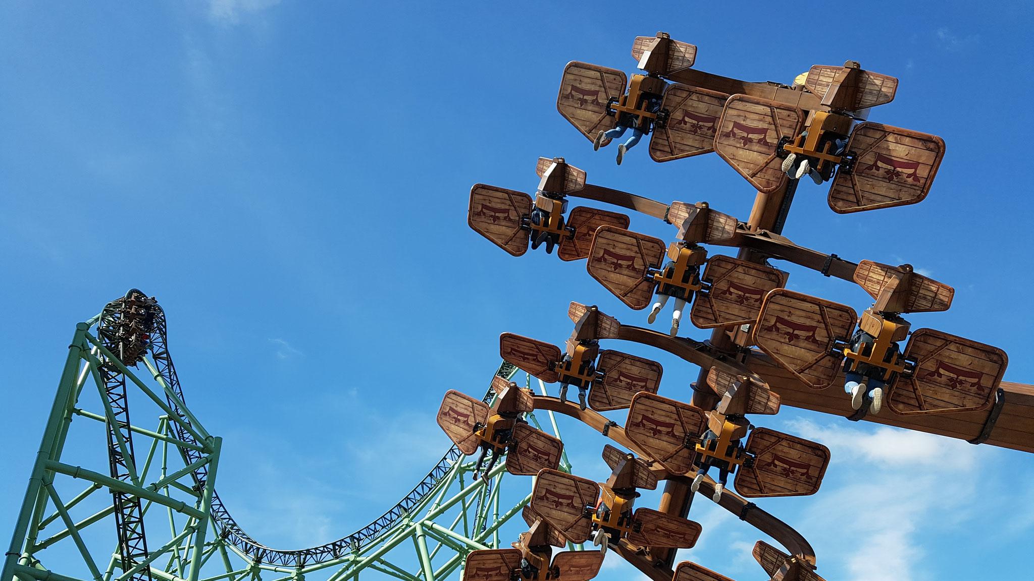 """Hyper-Coaster """"Der Schwur des Kärnan"""" & SkyFly """"Kärnapulten"""""""