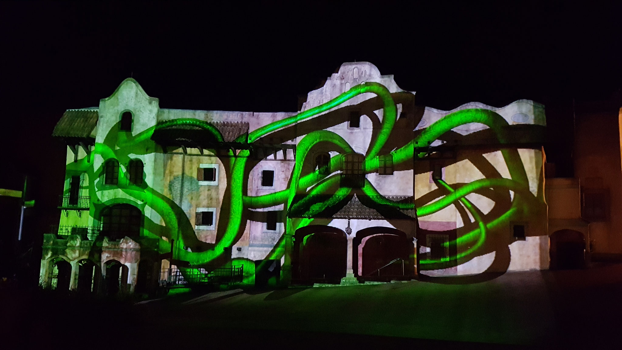"""Mapping Show beim Event """"Zeit der Schattenwesen"""""""