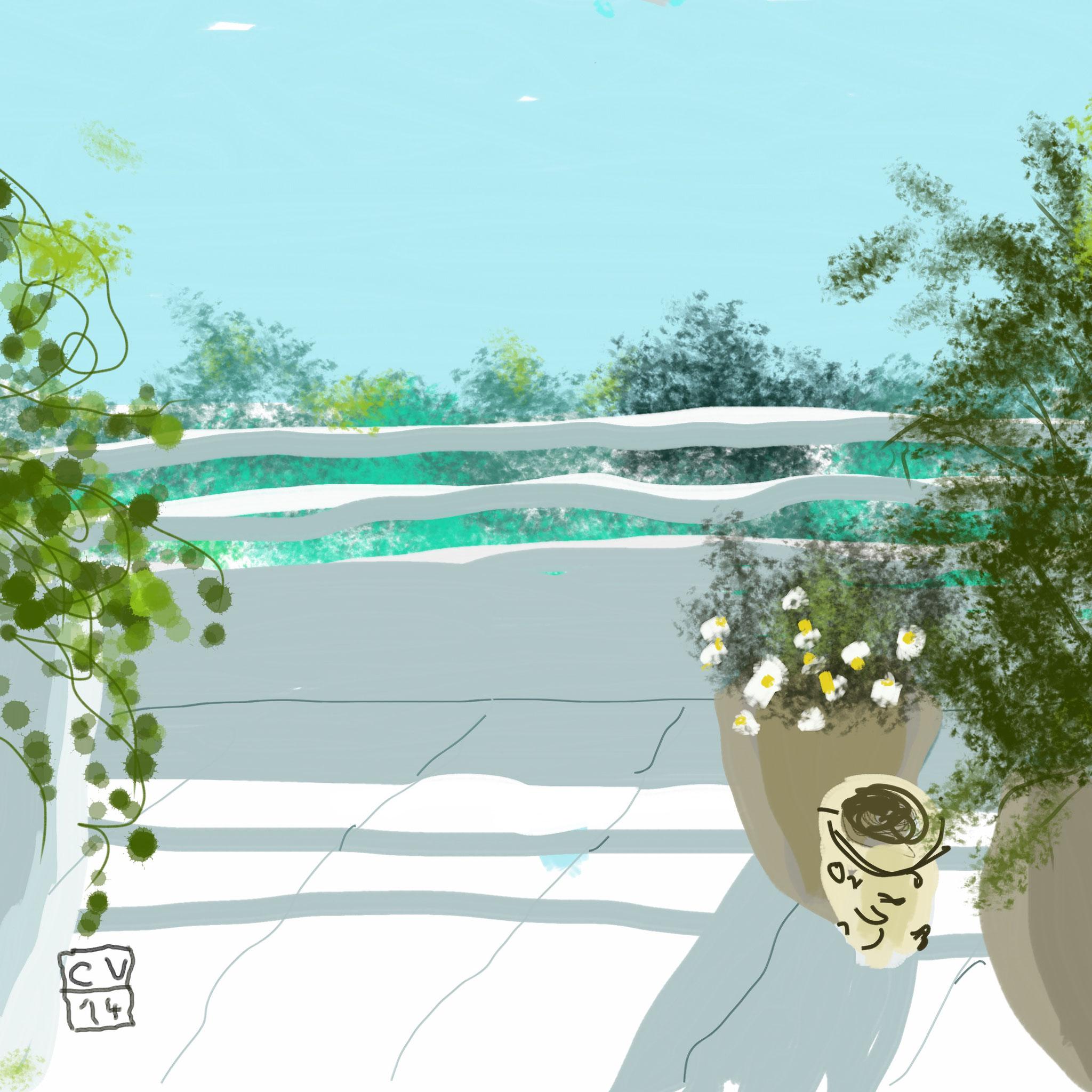 Soleil sur la terrasse - 2014