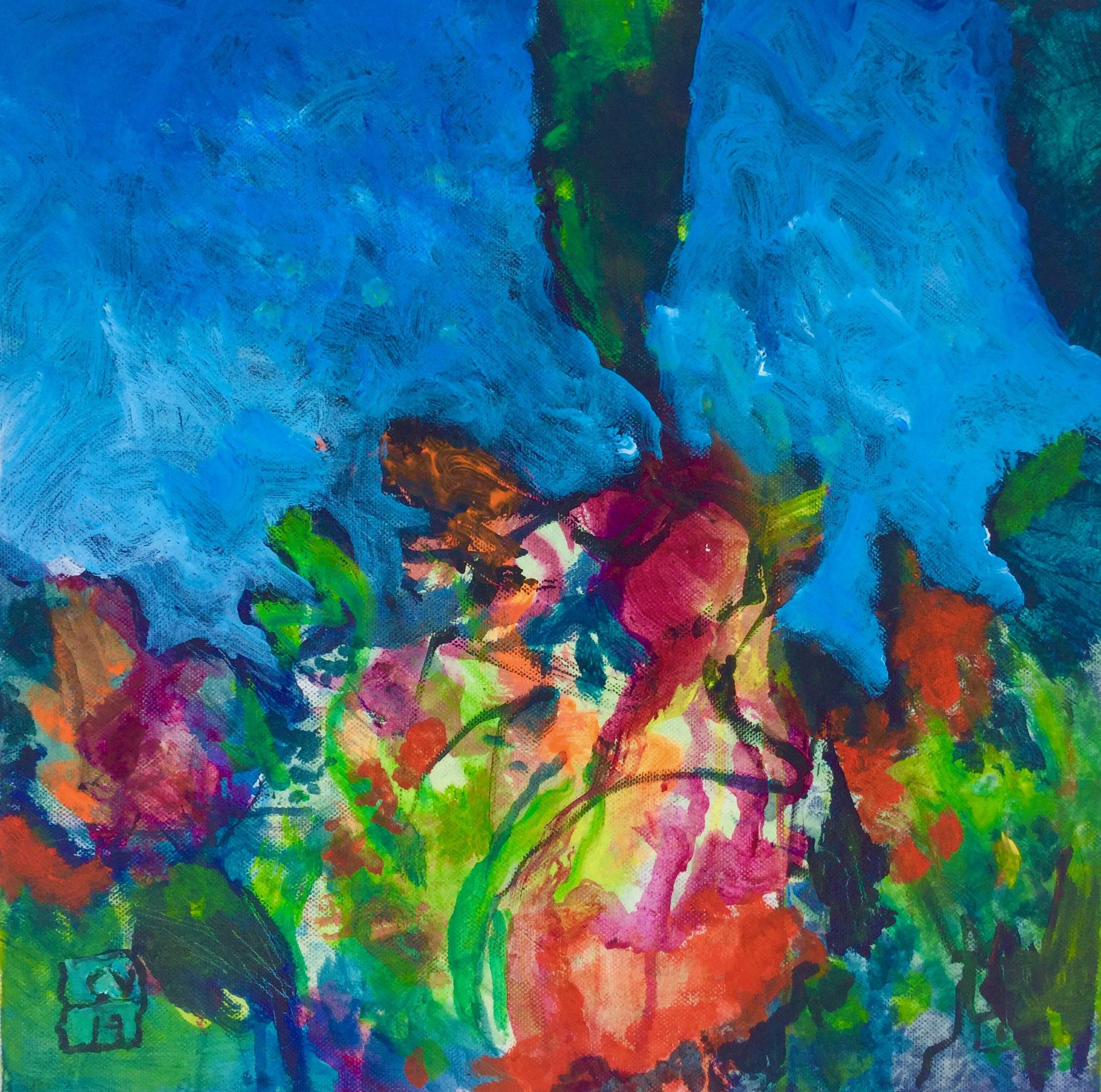 Paysage imaginé - 2017 - 40 x 40 cm