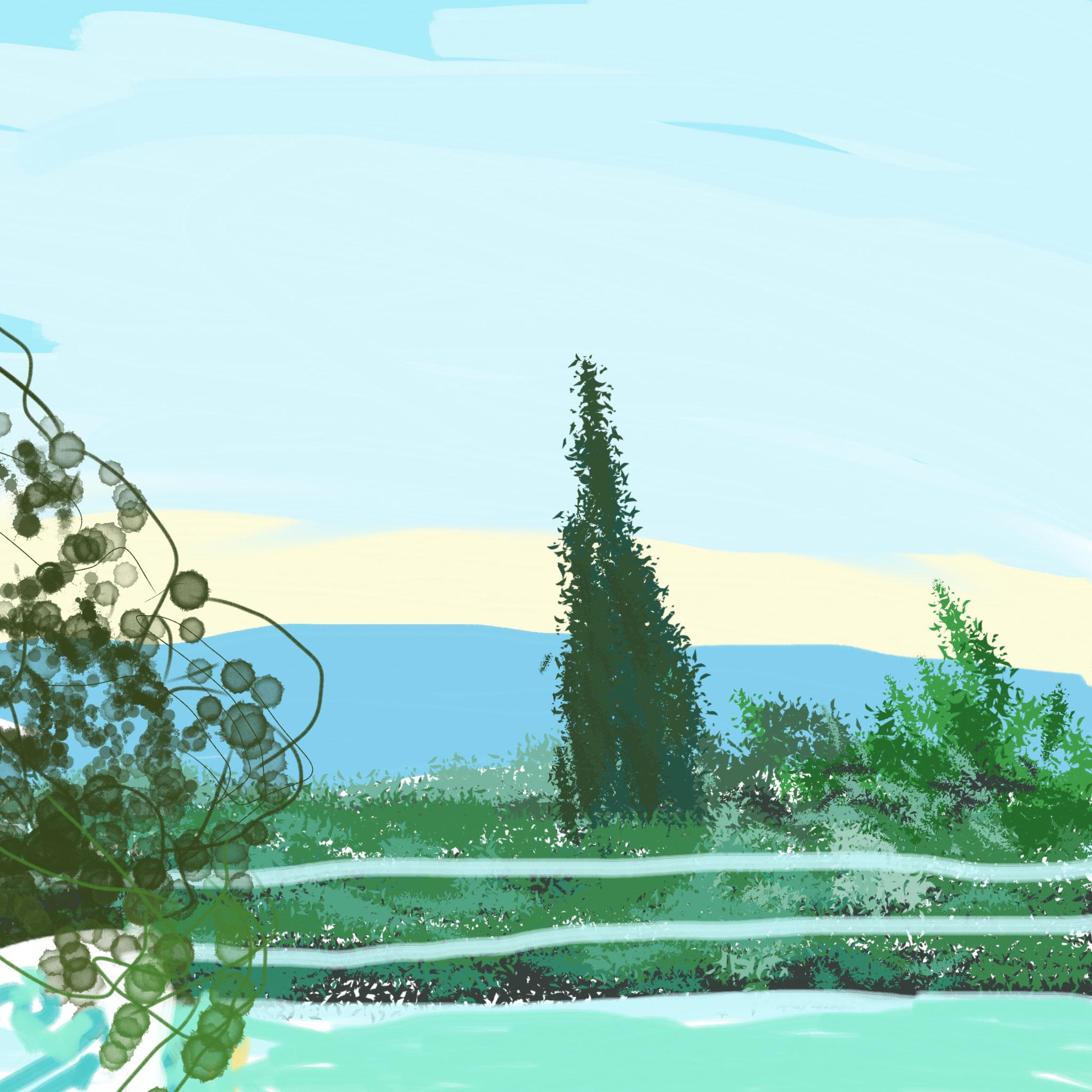 La terrasse au réveil - 2014