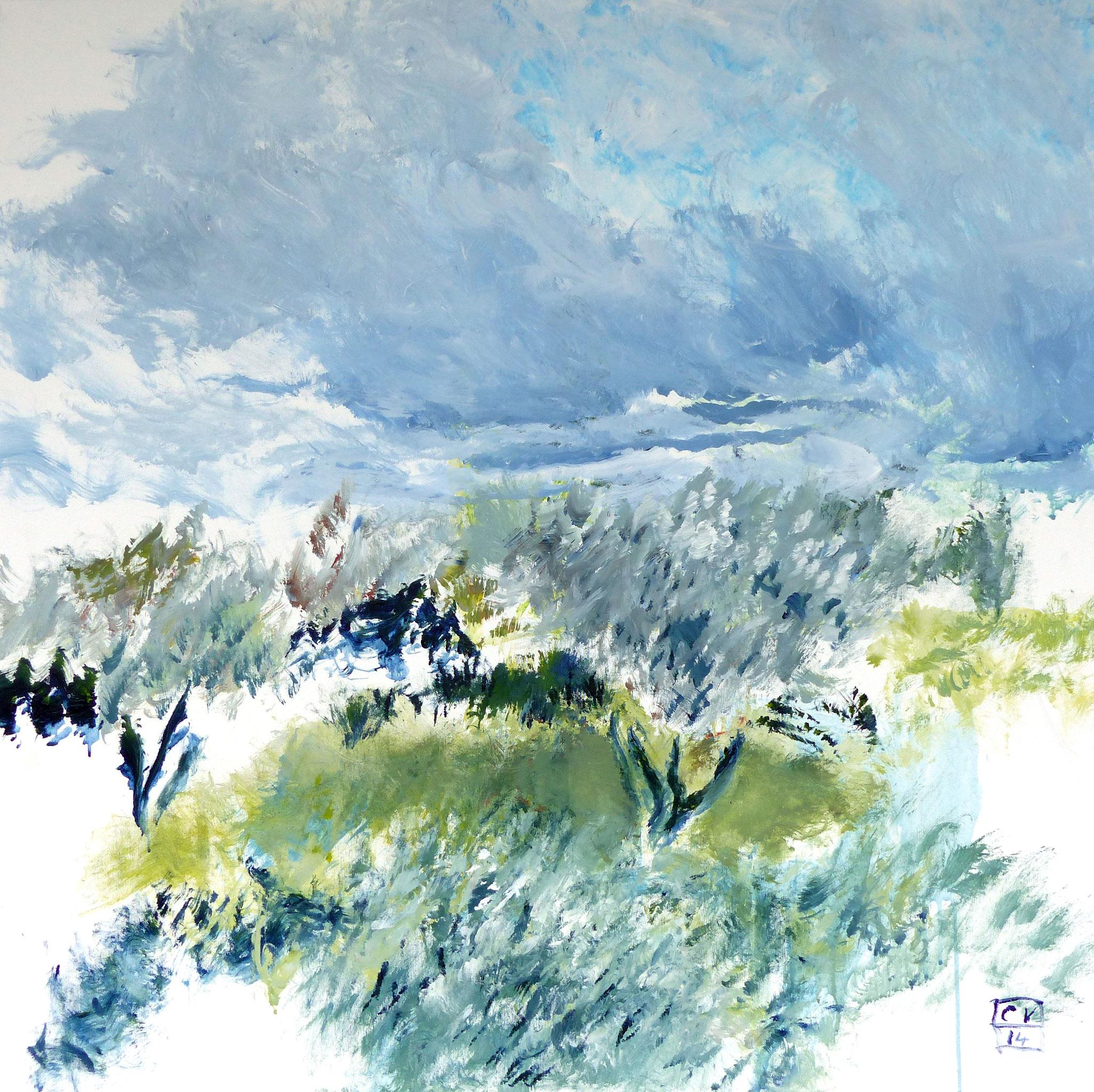 Oliveraie grise - 2014 - 100 x 100 cm